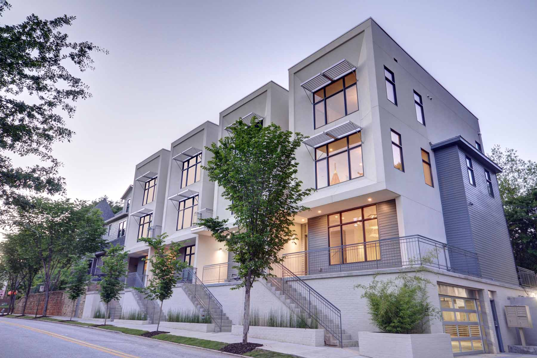 Townhouse for Sale at Midtown Modern Townhome with a Private Rooftop Terrace 785 Piedmont Avenue NE Unit F Midtown, Atlanta, Georgia, 30308 United States
