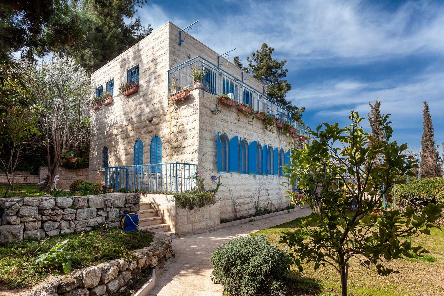 Single Family Home for Sale at Extraordinary Villa in Historic Ein Karem Village Jerusalem, Israel Israel