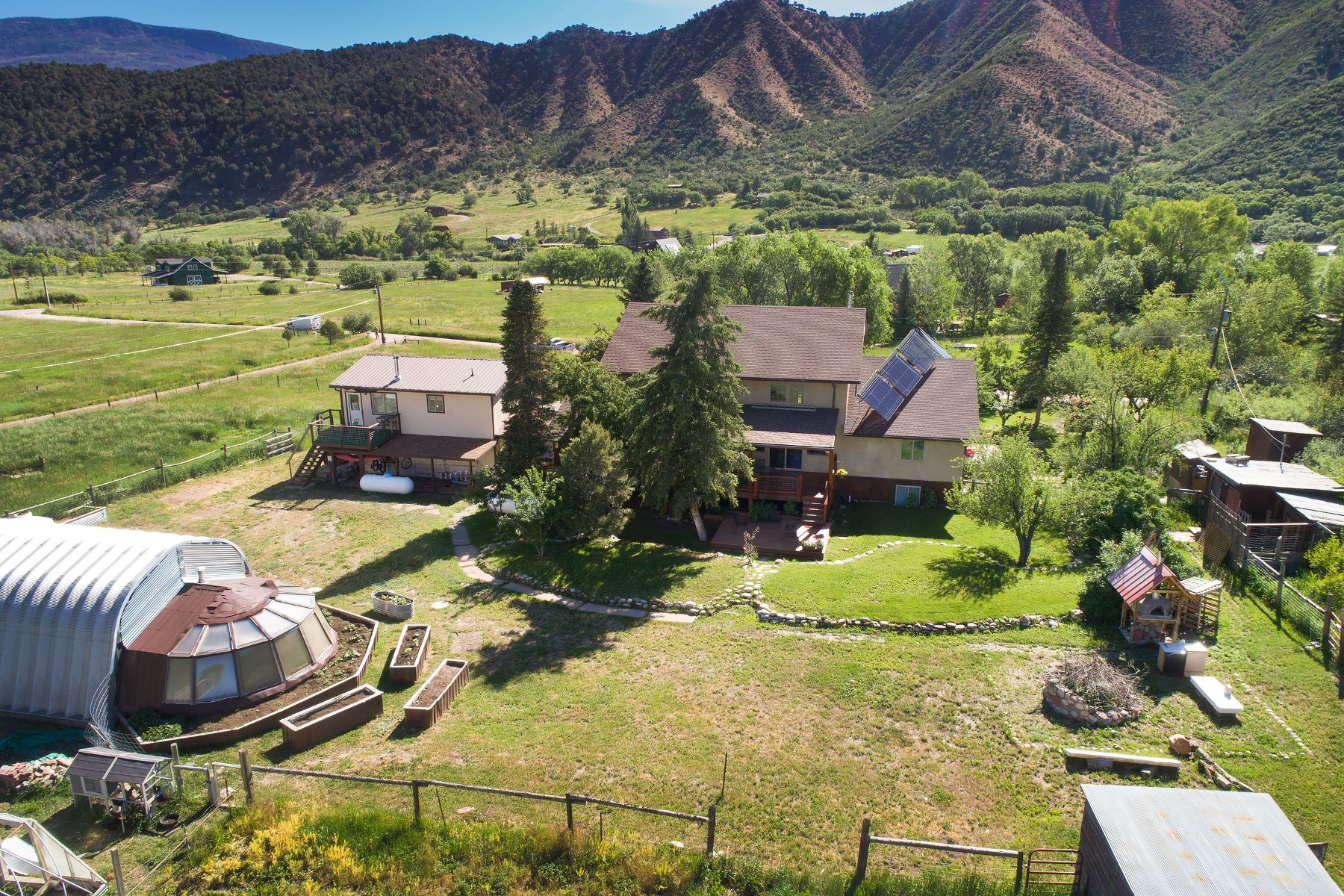 Single Family Homes for Sale at Idyllic, peaceful ranchette in Emma 101 Vagneur Lane Basalt, Colorado 81621 United States