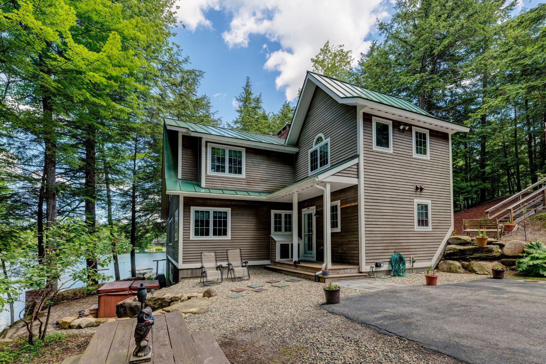 Single Family Homes для того Продажа на Lovely, Private Lakeside Home 62 Ridgewood Road Rd, Sunapee, Нью-Гэмпшир 03782 Соединенные Штаты