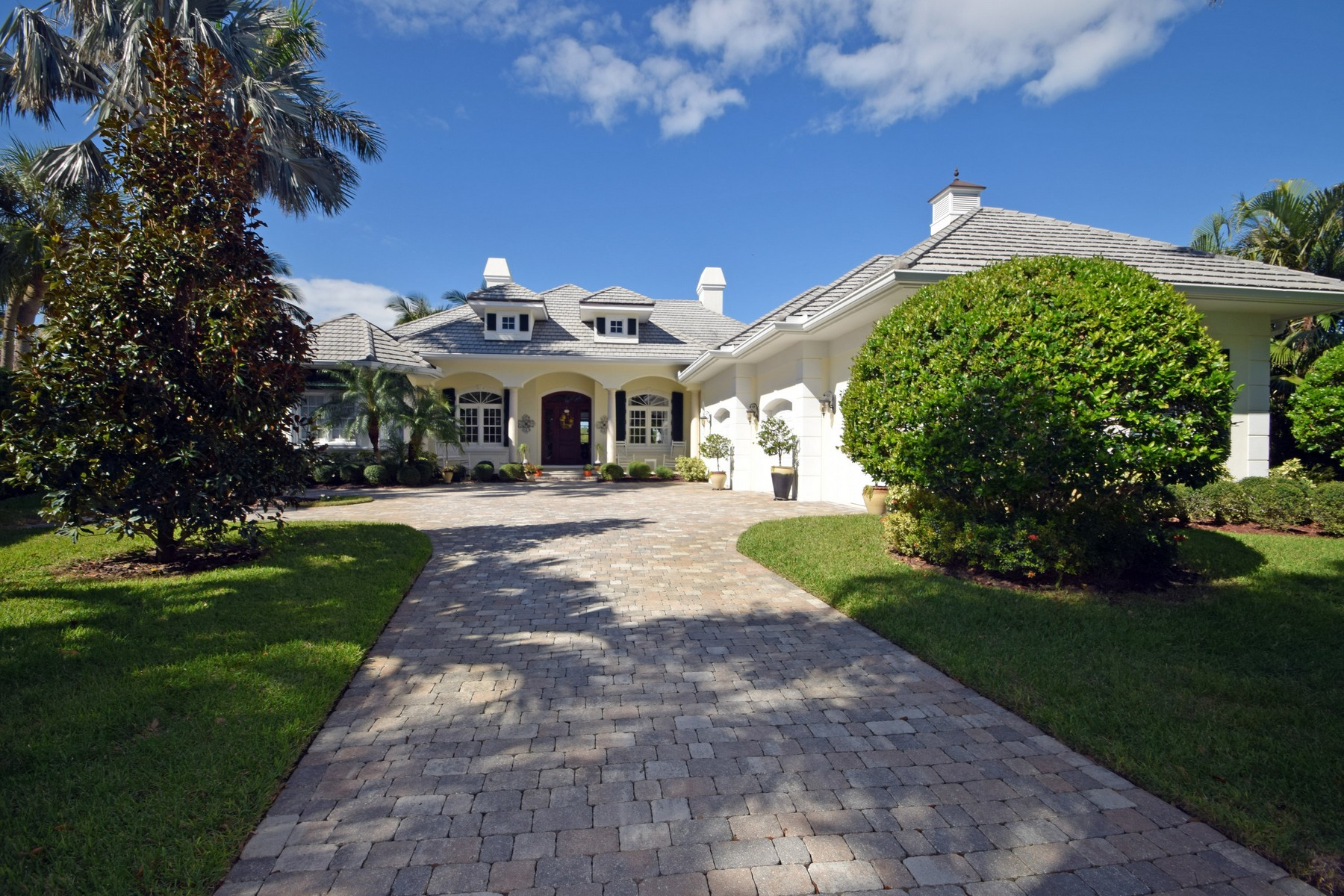 Single Family Home for Sale at Exquisite Riverfront Pool Home 1371 Indian Mound Trail Vero Beach, Florida 32963 United States