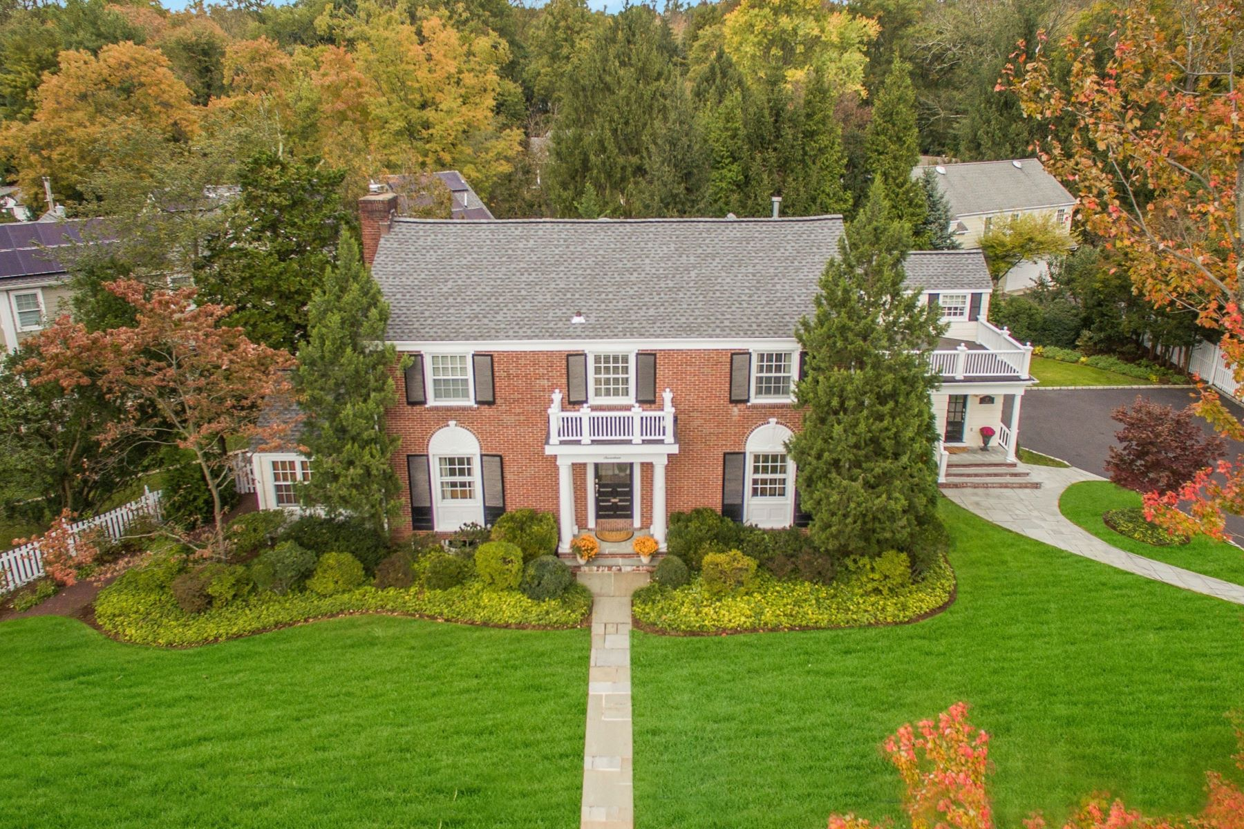 Single Family Home for Sale at Classic Brick Colonial 17 Crescent Place, Short Hills, New Jersey 07078 United States