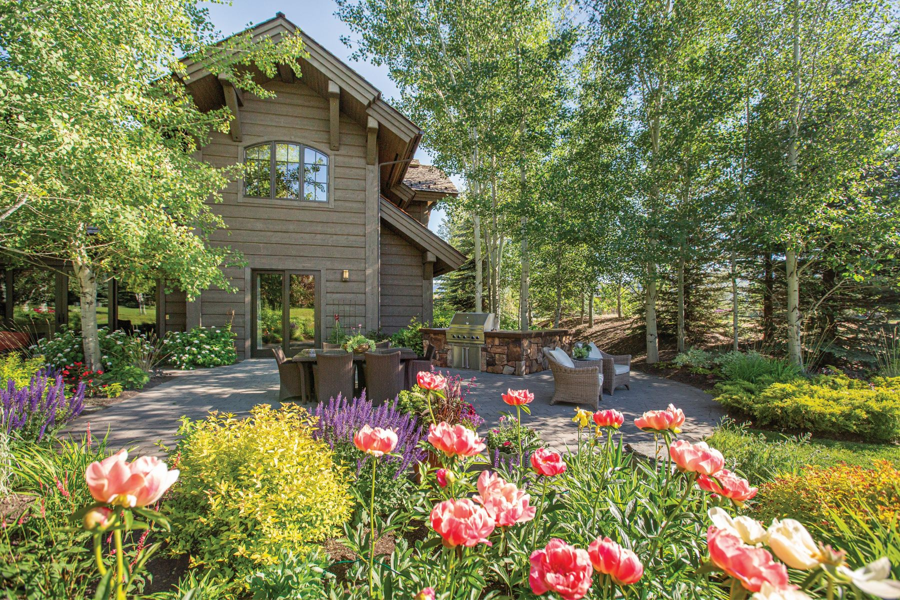 Single Family Homes for Sale at An Idyllic Garden Retreat 19 Streamside Drive Hailey, Idaho 83333 United States