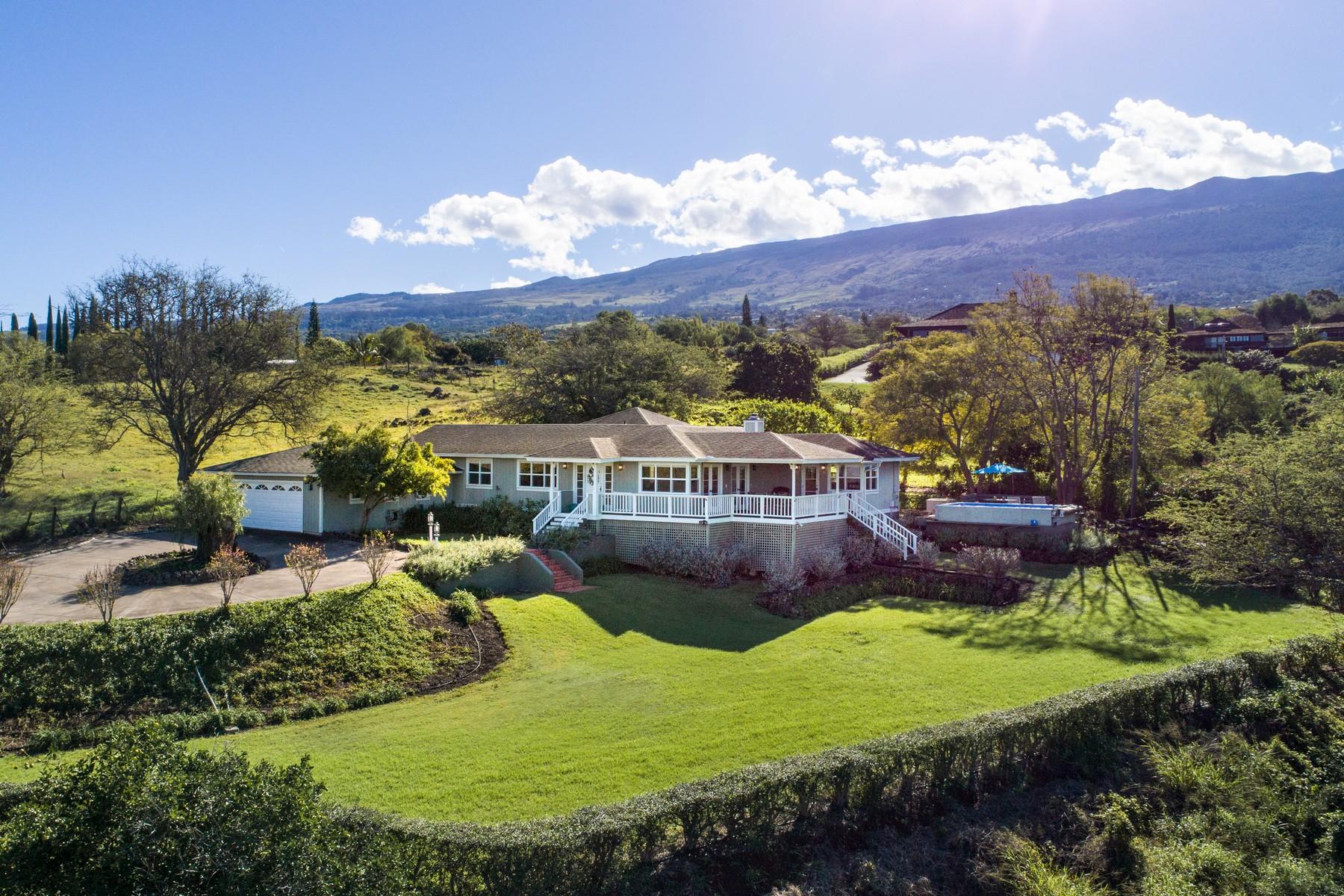 واحد منزل الأسرة للـ Sale في Kula Plantation Style Home On 2 Acres Of Best Maui Weather 1678 Naalae Road, Kula, Hawaii, 96790 United States