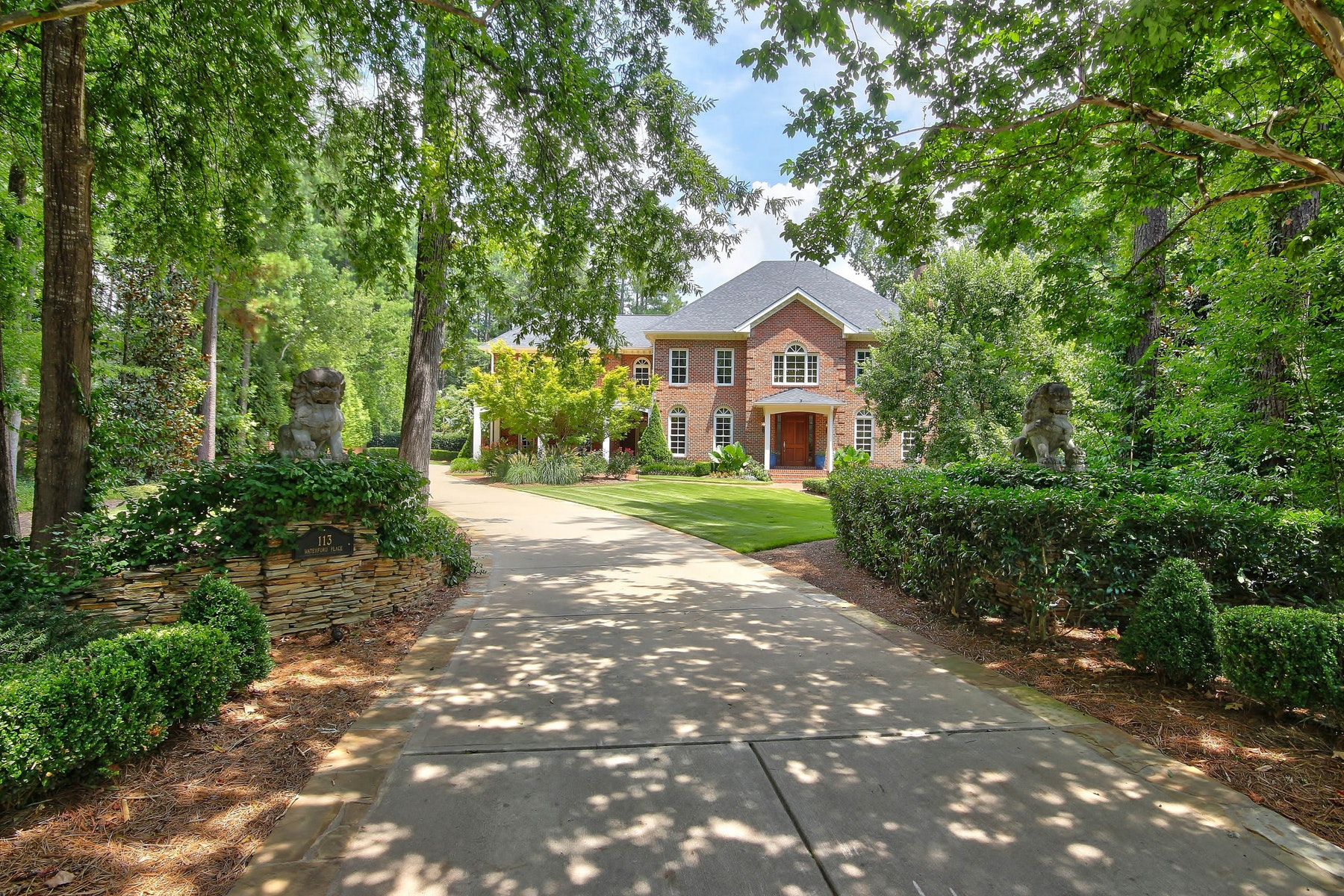 Single Family Home for Sale at Inviting Georgian Brick Home in The Oaks 113 Waterford Place Chapel Hill, North Carolina 27517 United States