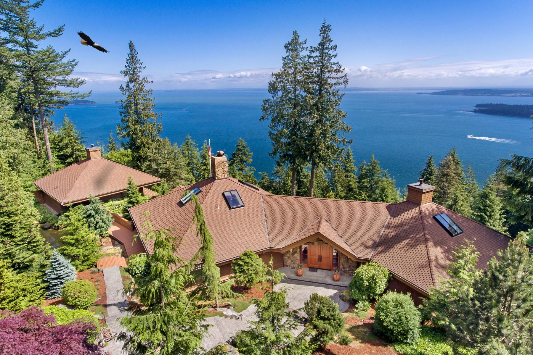 独户住宅 为 销售 在 Birdseye View Estate Orcas Island 173 Falls Drive 东松德, 华盛顿州, 98245 美国