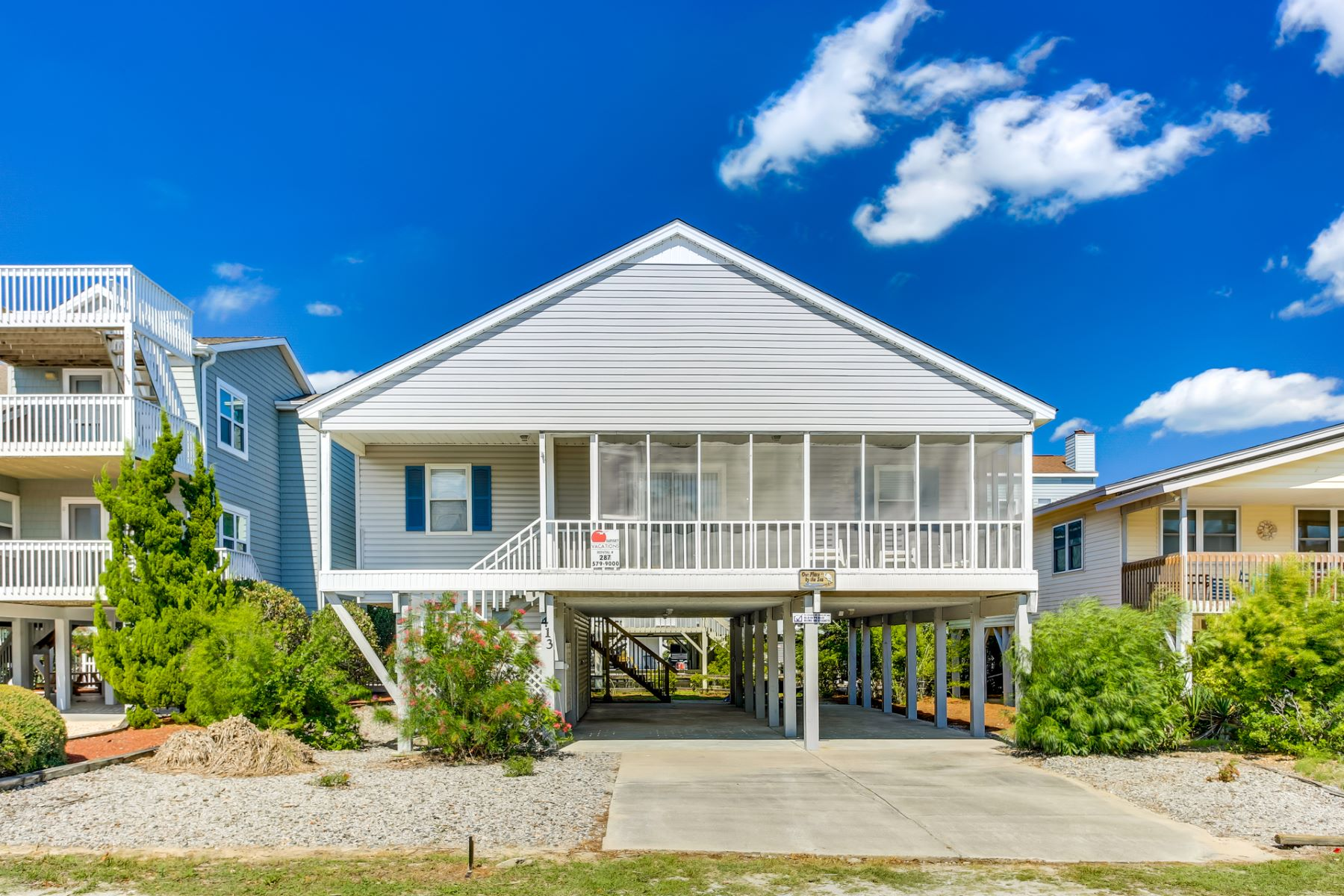 Single Family Homes for Active at Beach Cottage, Casual Coastal Living 413 E 1st Street Sunset Beach, North Carolina 28468 United States