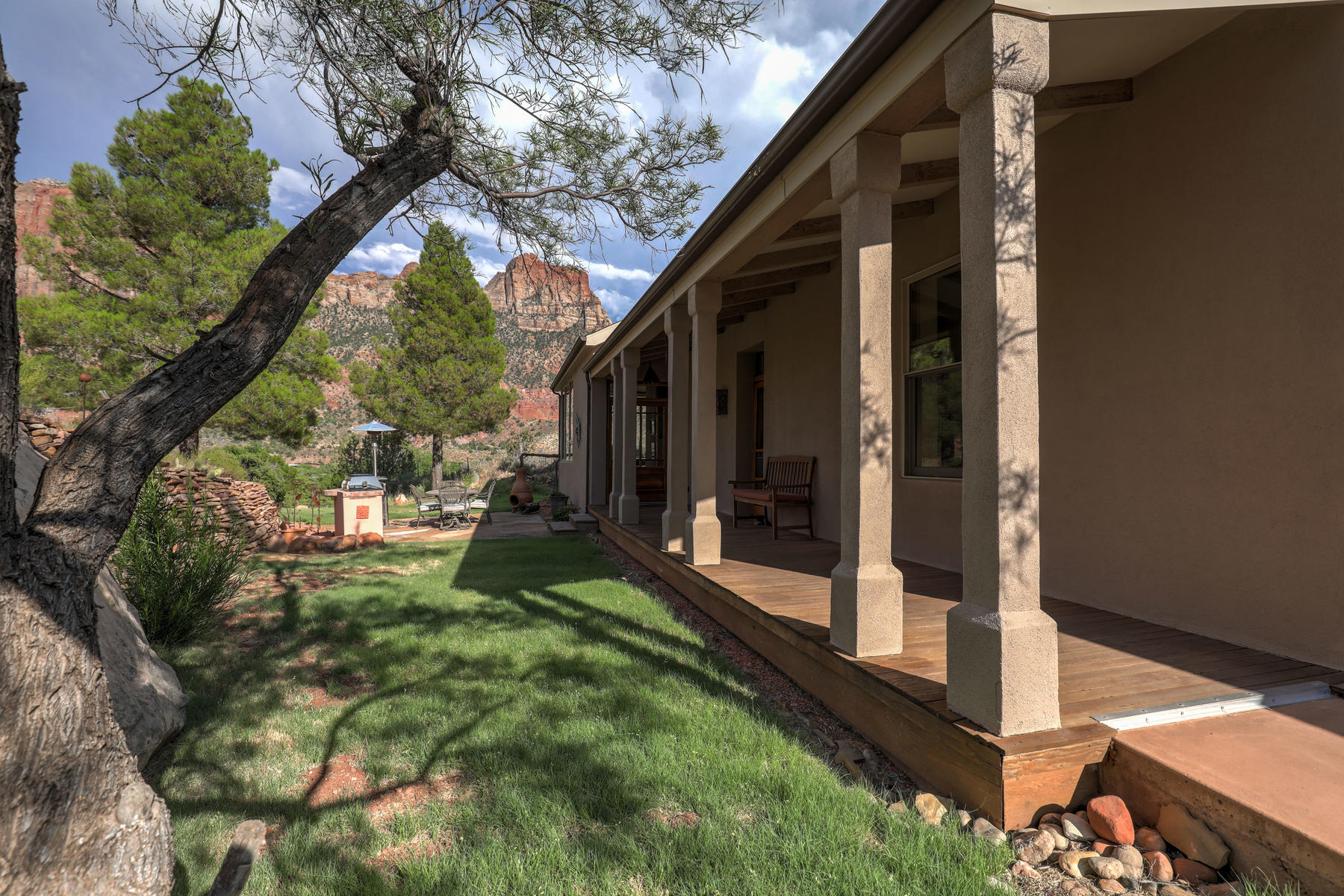 Single Family Homes for Sale at Craftsman Style Energy-Efficiency on Private 2.37 Acres in Zion 1510 Claret Cup Lane, Springdale, Utah 84767 United States