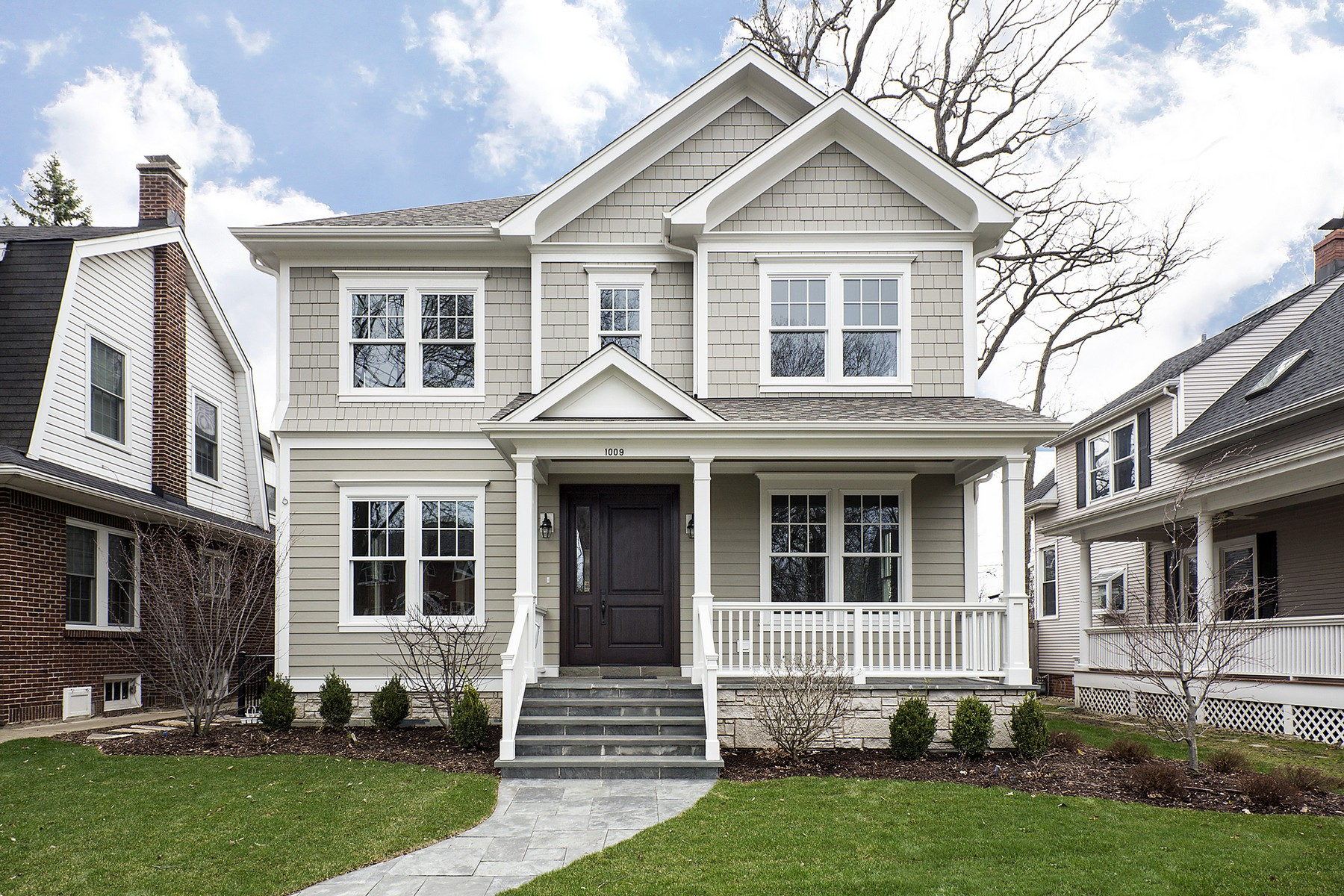 Single Family Home for Sale at New Construction Home 1009 Oakwood Avenue Wilmette, Illinois, 60091 United States