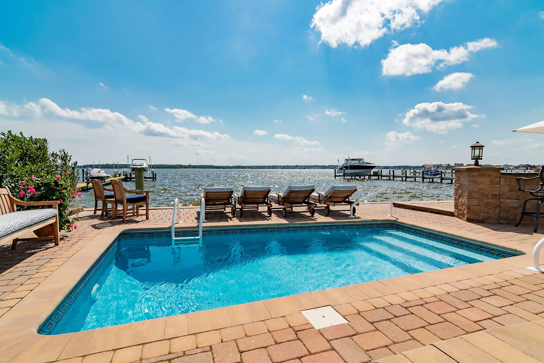 Single Family Homes for Sale at Spacious Bayfront Colonial With Spectacular Views Of Silver Bay 223 Bay Stream Drive Toms River, New Jersey 08753 United States