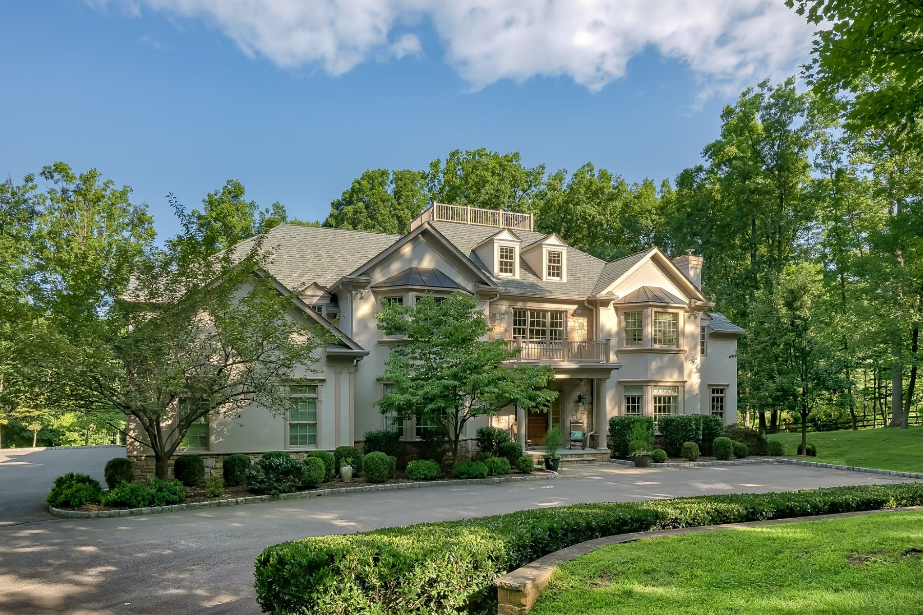 Single Family Homes for Sale at Exceptional Custom Colonial 151 Post Kennel Road Bernardsville, New Jersey 07924 United States