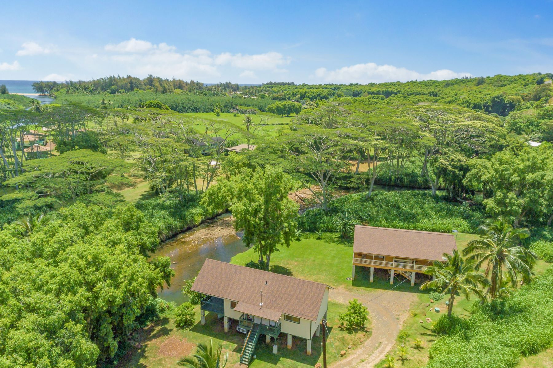 Single Family Homes 용 매매 에 Anahola River home plus ADU 4-4284 Kuhio Hwy, Anahola, 하와이 96703 미국
