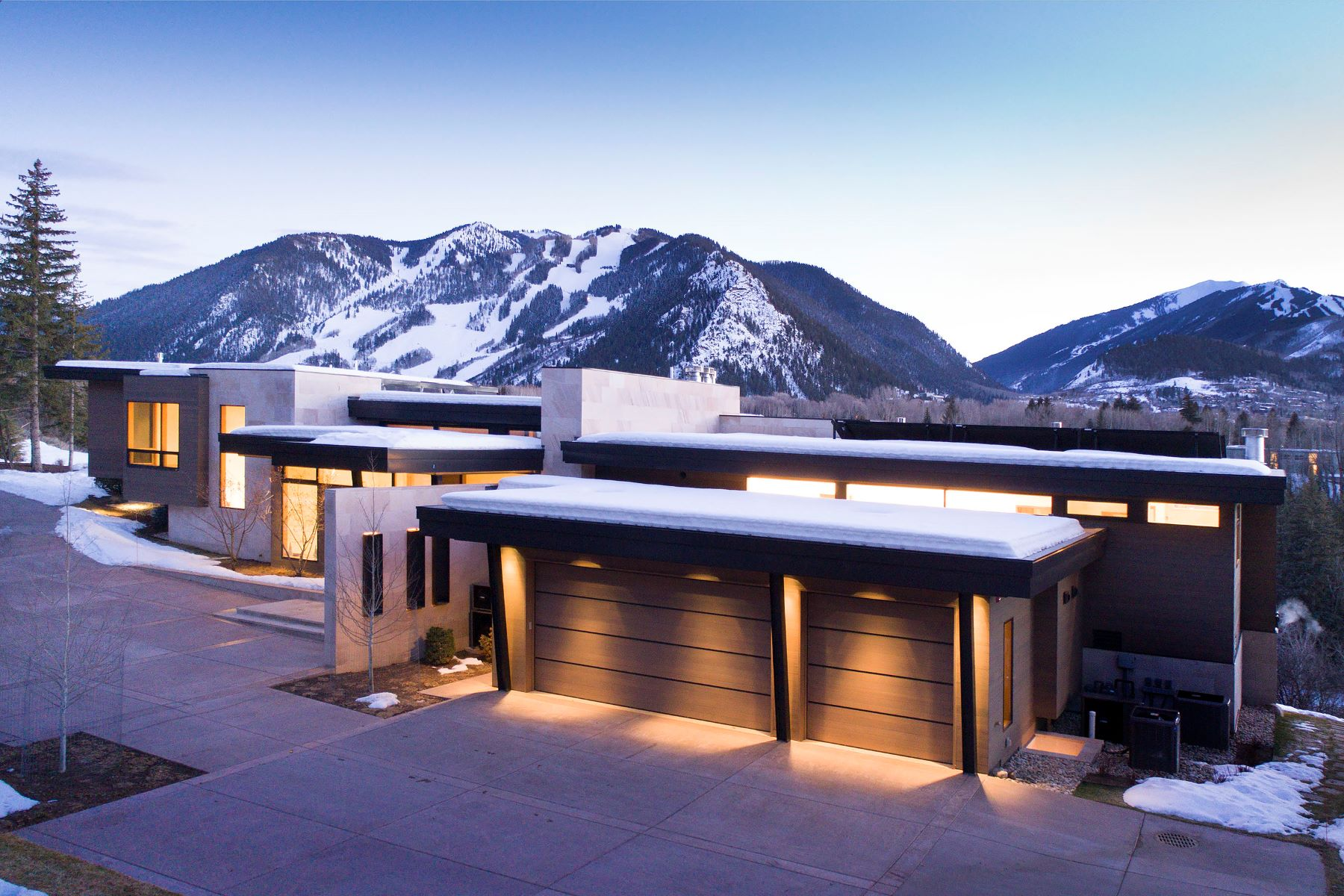 Single Family Home for Sale at New Willoughby Way Contemporary 720 Willoughby Way Aspen, Colorado 81611 United States