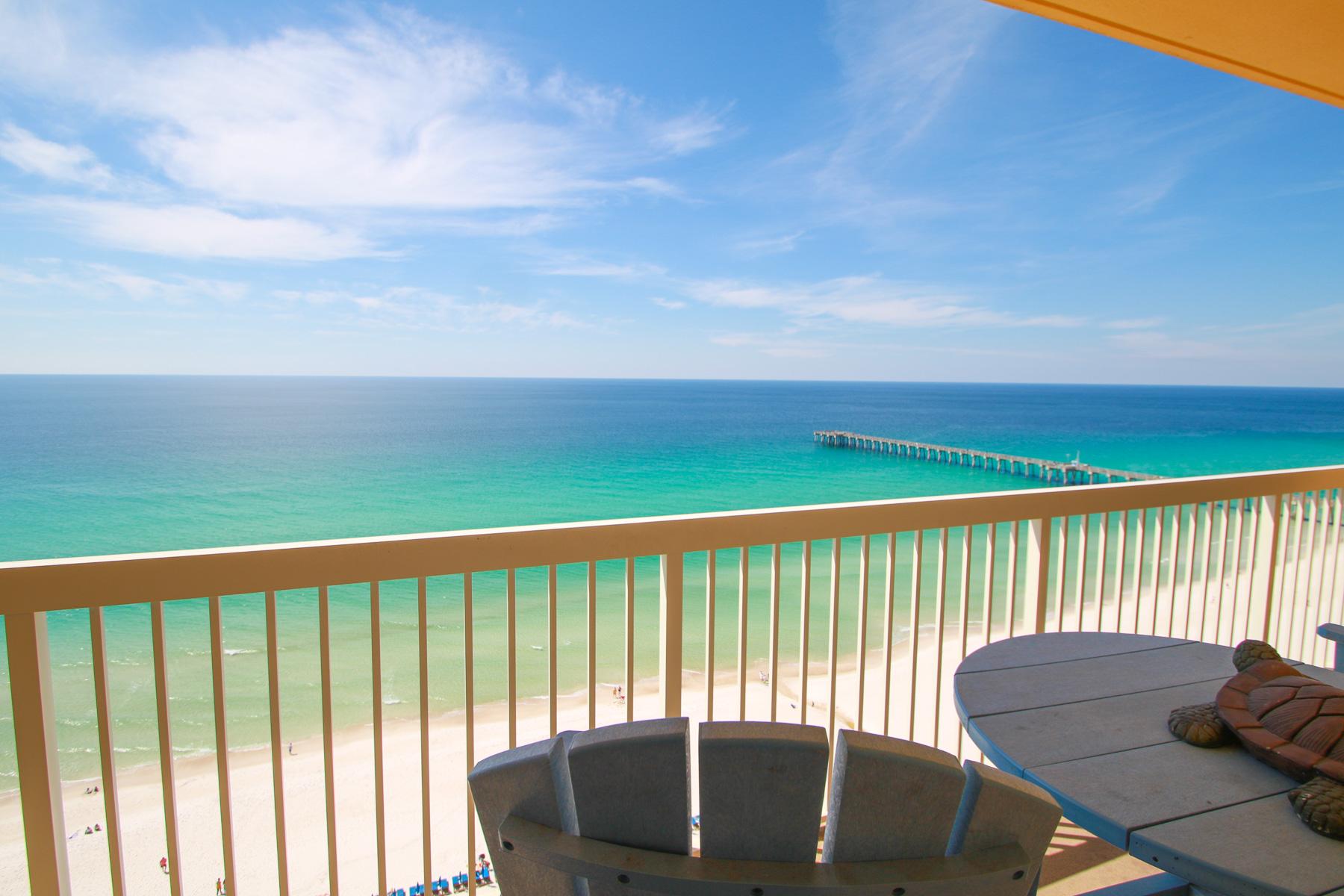 共管式独立产权公寓 为 销售 在 Turn Key Gulf-front Condo Boasts Desirable Rental Floorplan 15817 Front Beach Road 2-1702, 巴拿马城海滩, 佛罗里达州, 32413 美国