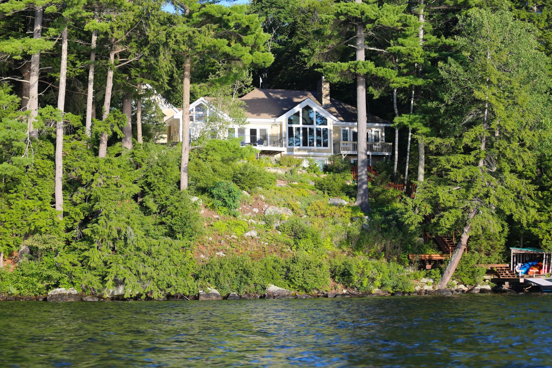 Single Family Home for Sale at Lake Sunapee Contemporary 136 Bowles Rd Newbury, New Hampshire 03225 United States