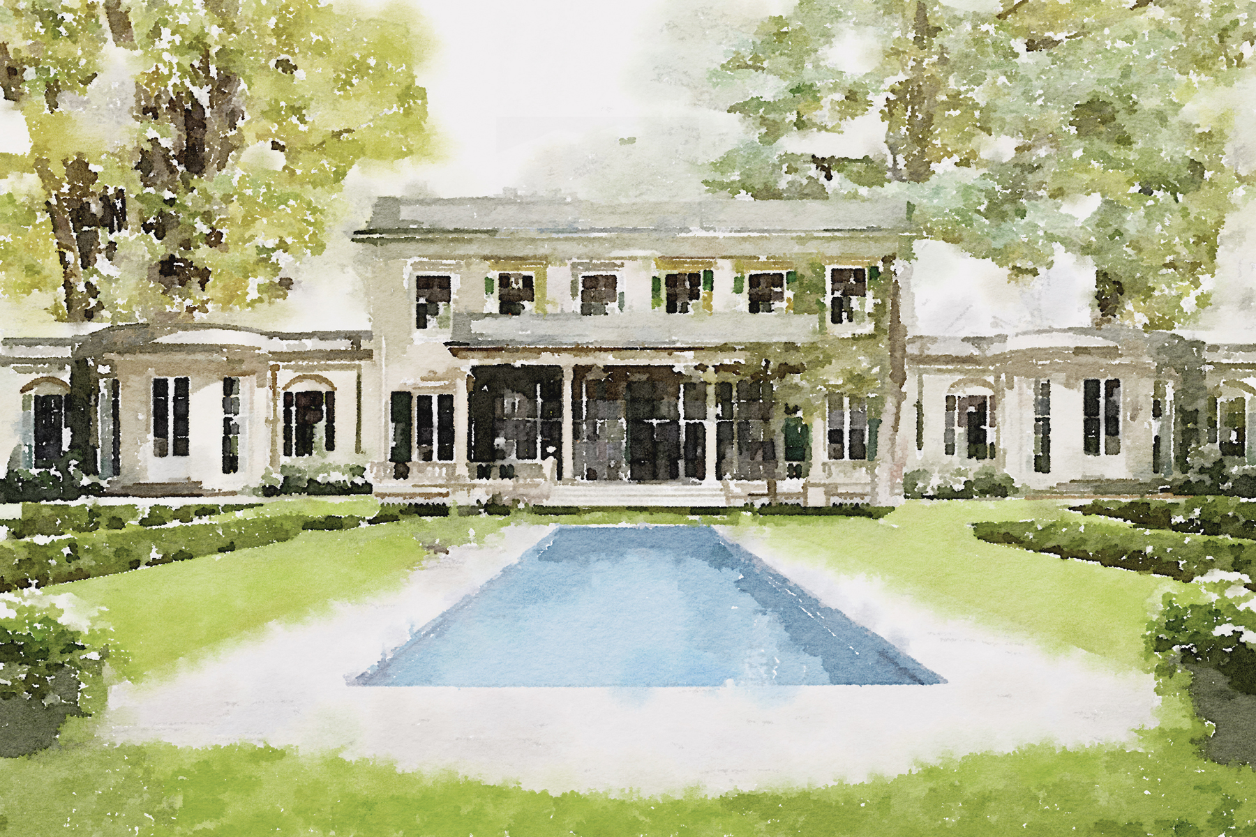 Single Family Homes for Sale at Elegant English Regency Style New Construction Home In Buckhead 389 Blackland Road NW Atlanta, Georgia 30342 United States