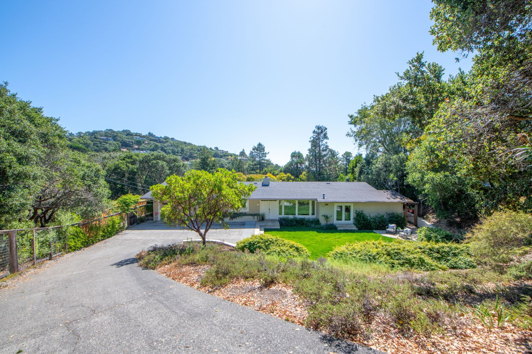Single Family Homes for Sale at Serene Single Level Retreat in Desirable Loch Lomond 40 Inverness Dr San Rafael, California 94901 United States
