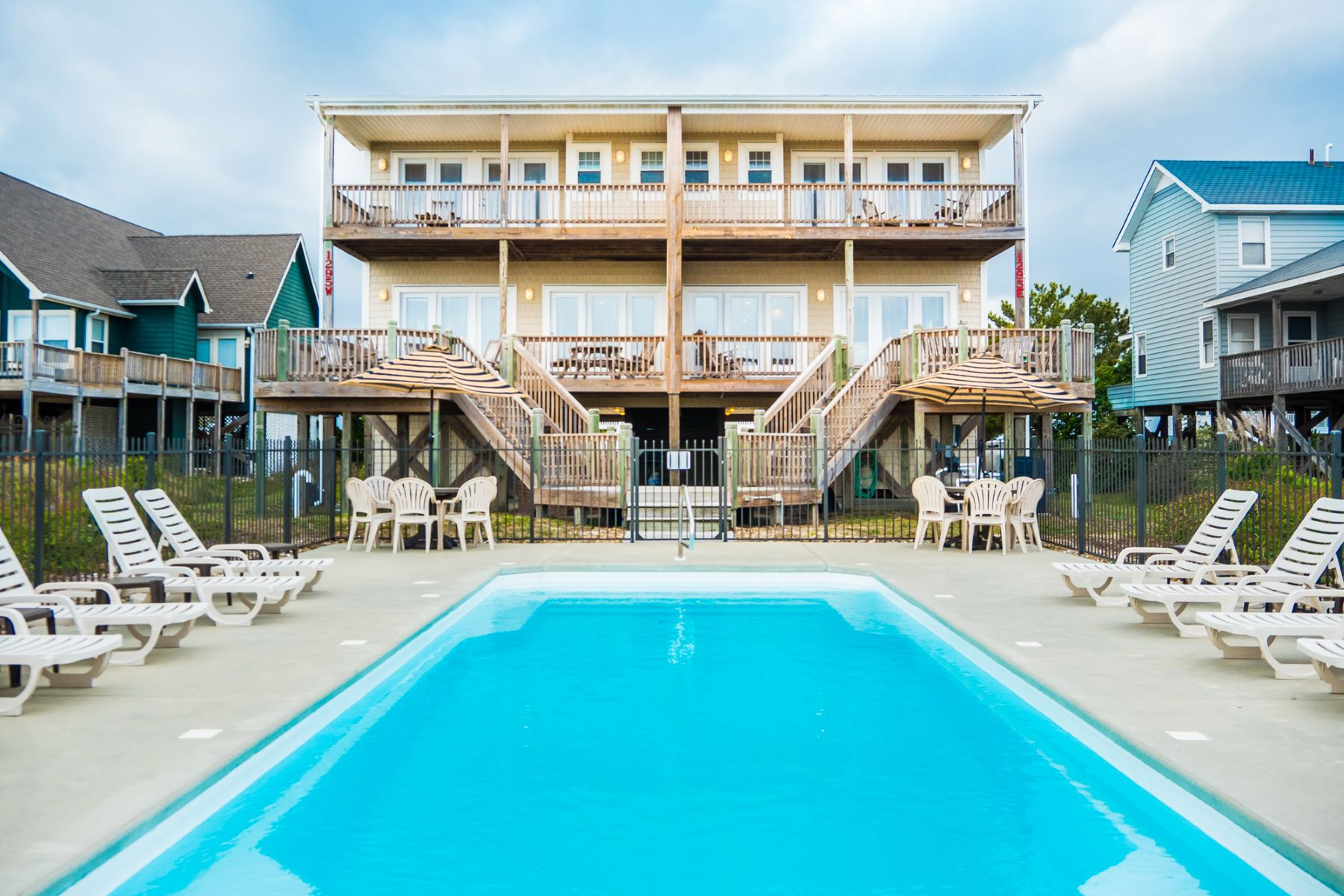 Single Family Home for Sale at Unique Oceanfront Duplex with Majestic Views 1295 Ocean Blvd W A&B Holden Beach, North Carolina, 28462 United States