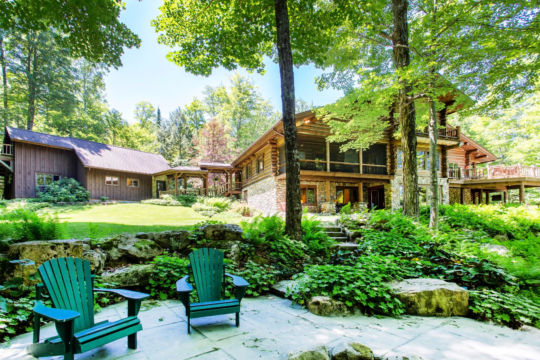 Single Family Homes for Sale at One-of-a-kind Adirondack Retreat 73 Krissica Way Schroon Lake, New York 12870 United States