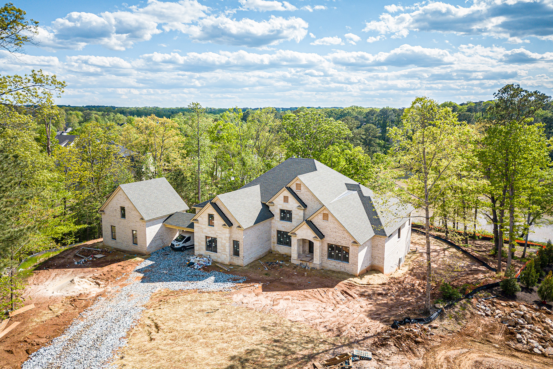 Single Family Homes for Sale at Spectacular New Construction Overlooking Private Lake 16038 Manor Club Drive Milton, Georgia 30004 United States