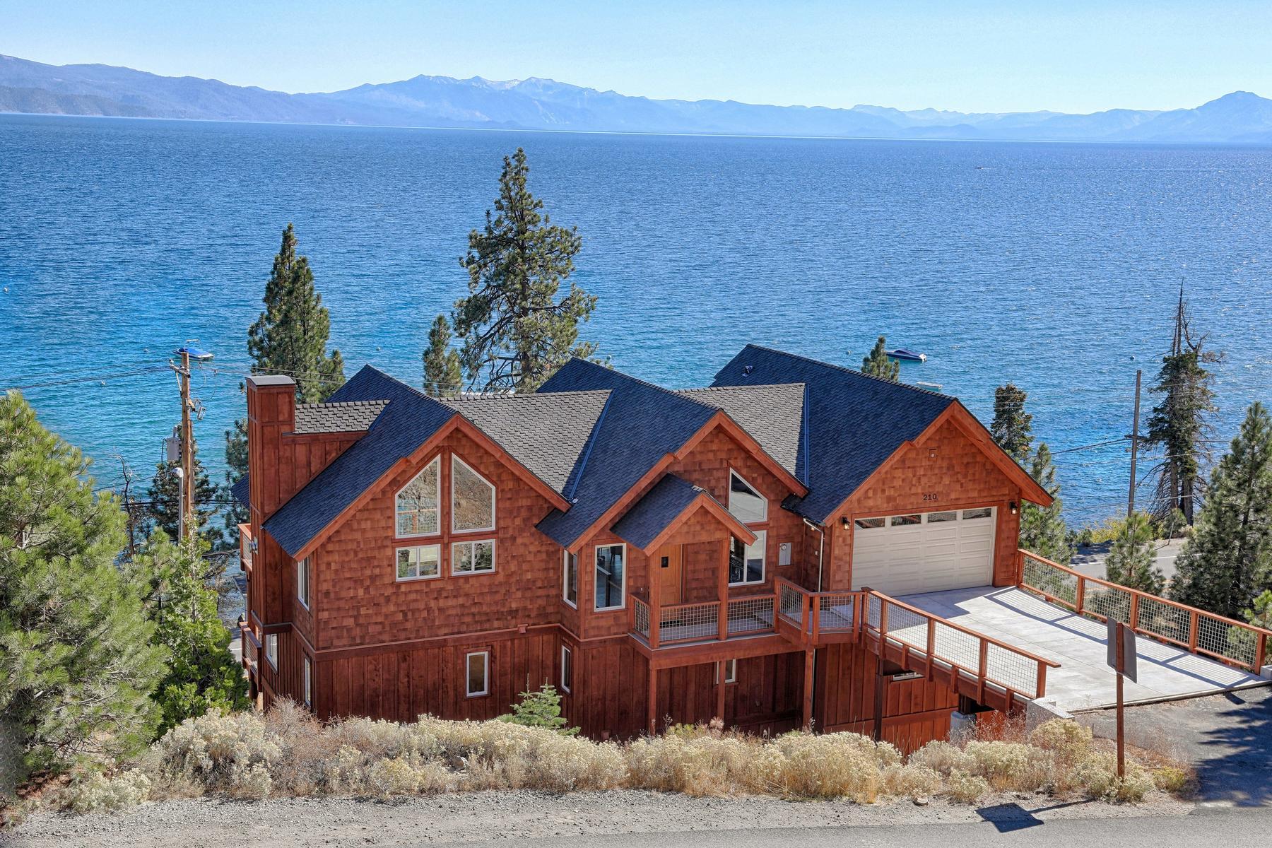 独户住宅 为 销售 在 210 Stag Lane, Tahoe Vista, CA 210 Stag Lane 塔霍湖, 加利福尼亚州 96148 美国