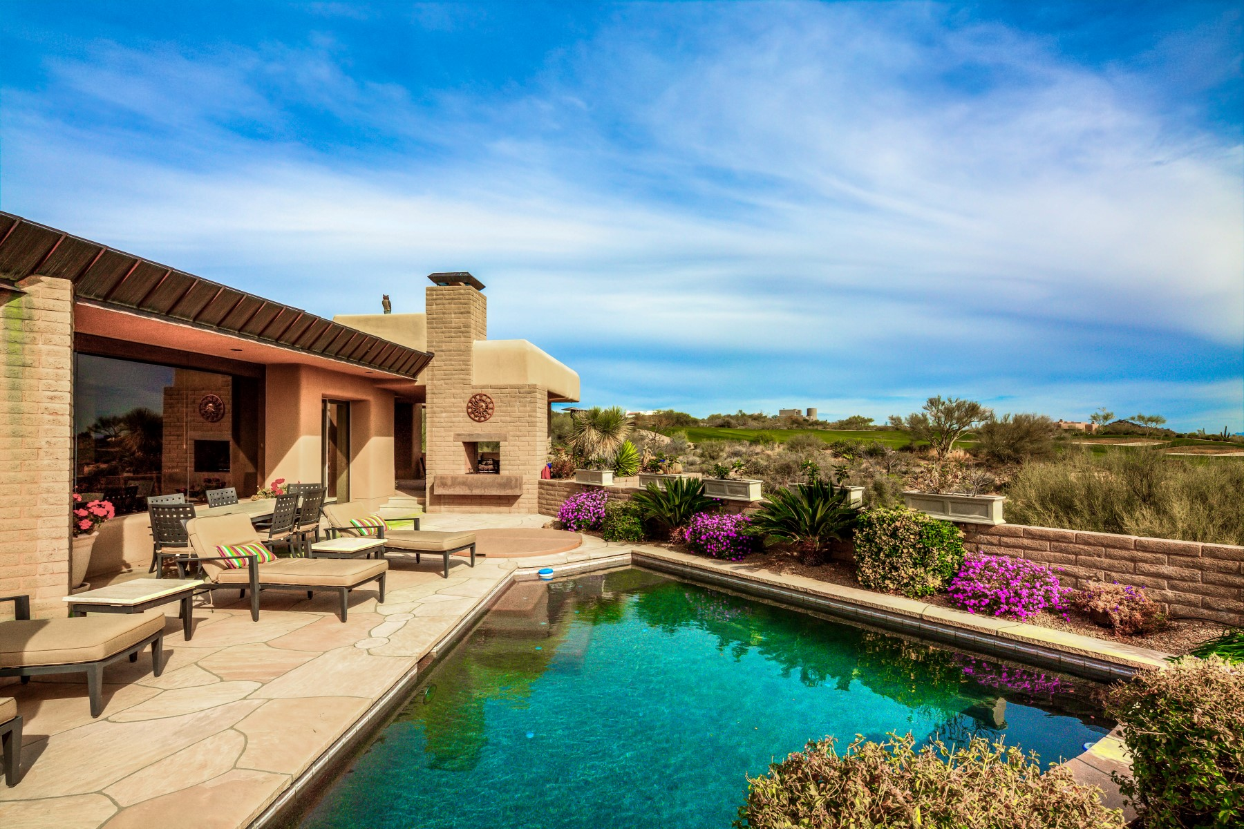 Single Family Home for Sale at Southwest Contemporary in Desert Mountain 11055 E Graythorn Drive, Scottsdale, Arizona, 85262 United States