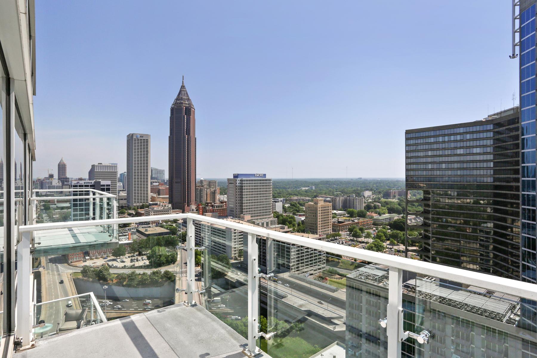 Condominio por un Venta en Iconic New Atlanta Penthouse Sets The Standard In Luxury Hotel-Inspired Living 45 Ivan Allen Jr Boulevard NW PH#2701 Atlanta, Georgia, 30308 Estados Unidos