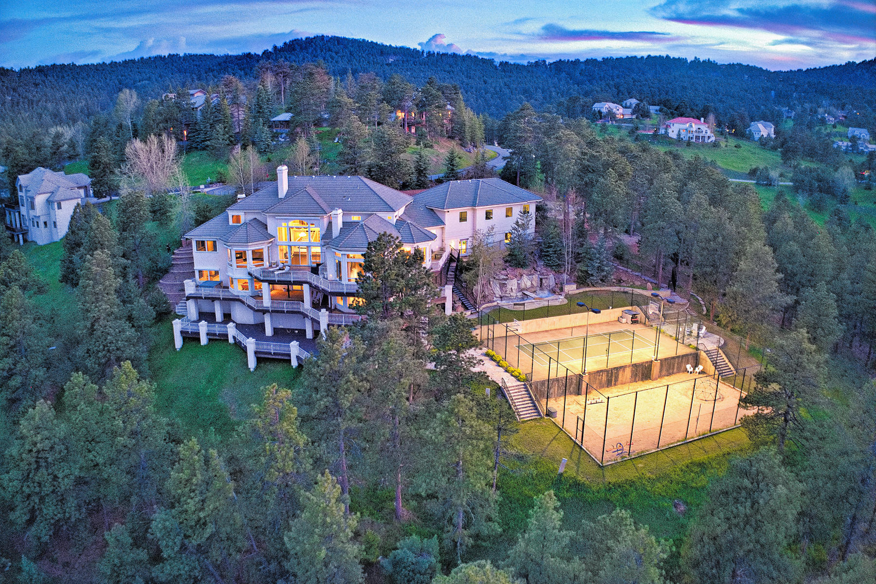 Single Family Home for Sale at Spectacular Estate with Complete Privacy & Panoramic Views 1003 Star Ridge Road Golden, Colorado 80401 United States