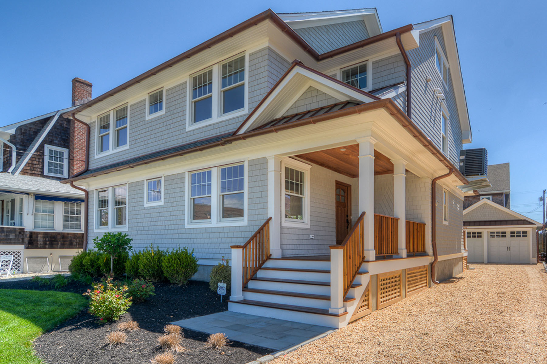 Single Family Homes for Sale at Completely Transformed Shore Colonial With Ocean Views 659 Main Avenue Bay Head, New Jersey 08742 United States
