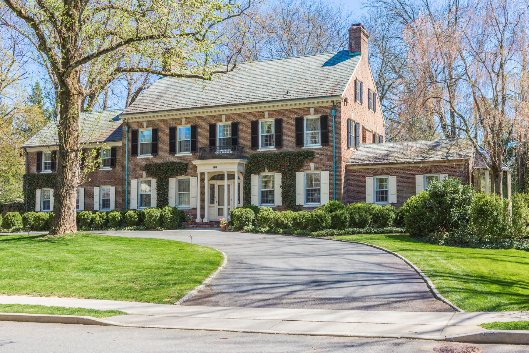 single family homes for Sale at A Warm and Noble Presence in the Western Section 80 Westcott Road, Princeton, New Jersey 08540 United States