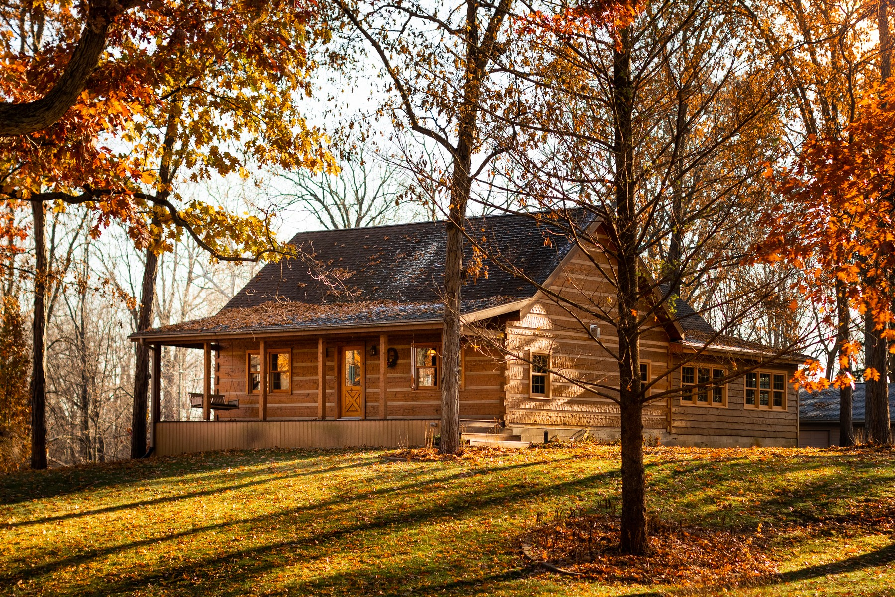 Single Family Homes للـ Sale في Log Cabin Near Winona Lake 1155 Edgewood Drive, Warsaw, Indiana 46580 United States