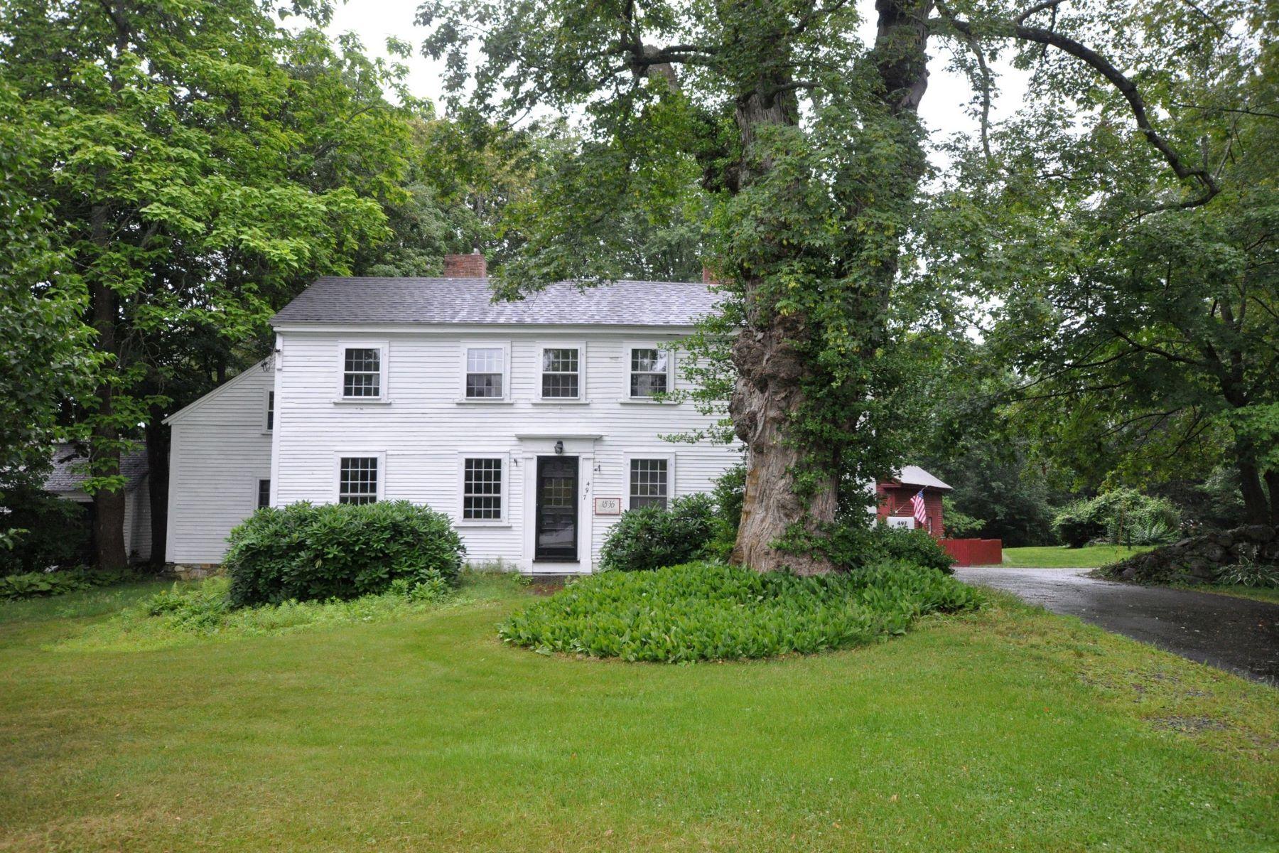 단독 가정 주택 용 매매 에 Historic Acton Center Colonial 497 Main Street Acton, 매사추세츠, 01720 미국