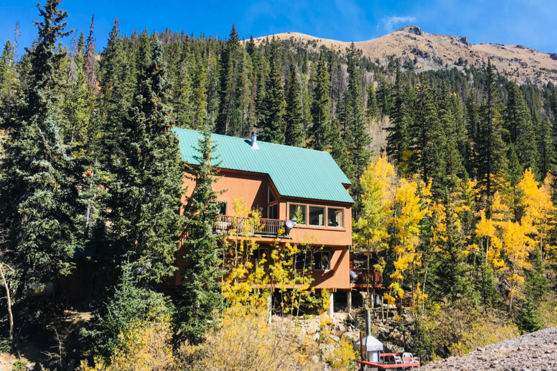 Single Family Homes 为 销售 在 Once in a Lifetime Opportunity to Own on Grey's Peak 1781 Stevens Gulch Road Silver Plume, 科罗拉多州 80476 美国
