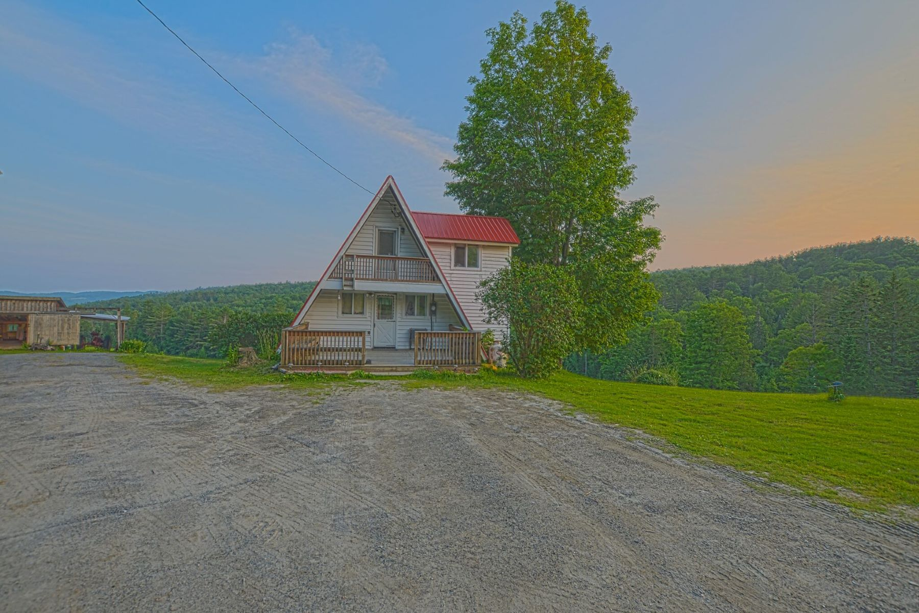 Single Family Homes for Sale at Three Bedroom A-Frame in Corinth 1483 White Rd Corinth, Vermont 05039 United States