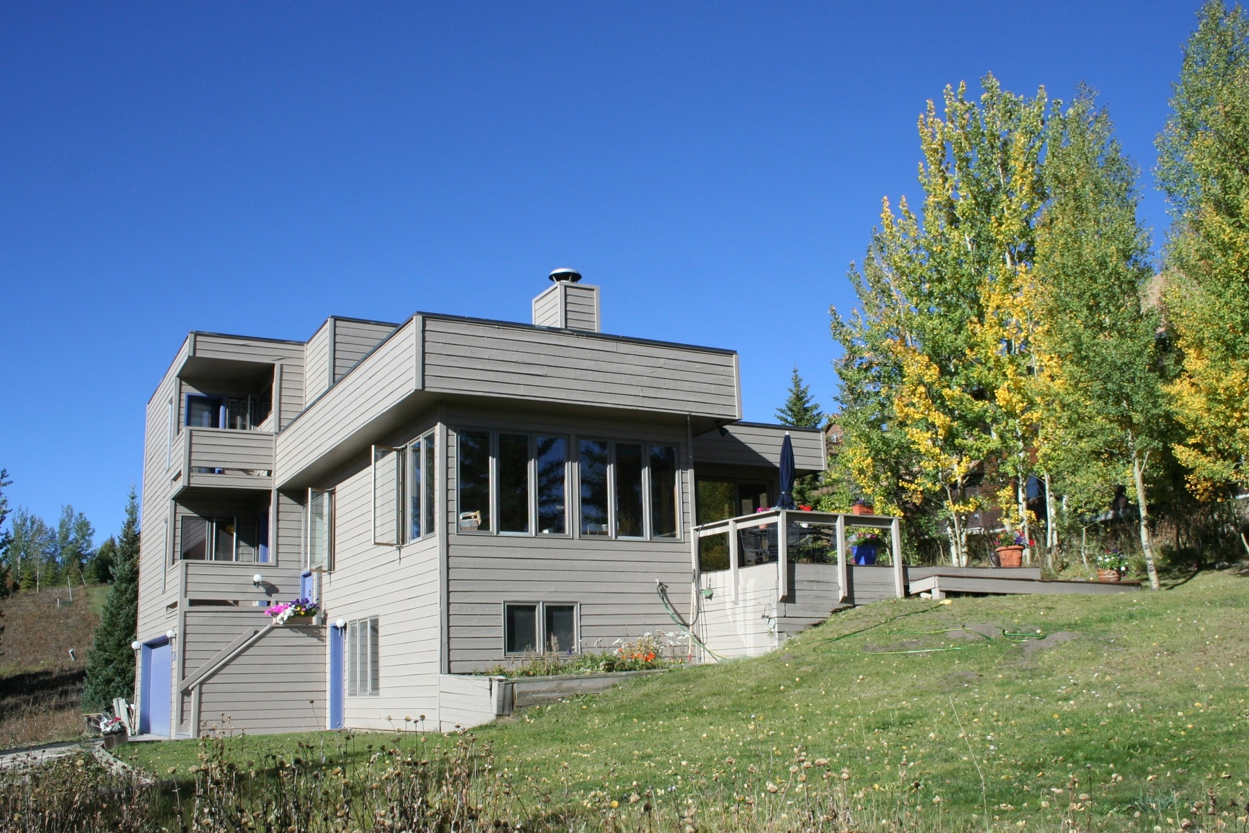 Single Family Homes for Sale at Contemporary Home on Elevated Lot 24 Whetstone Road Mount Crested Butte, Colorado 81225 United States