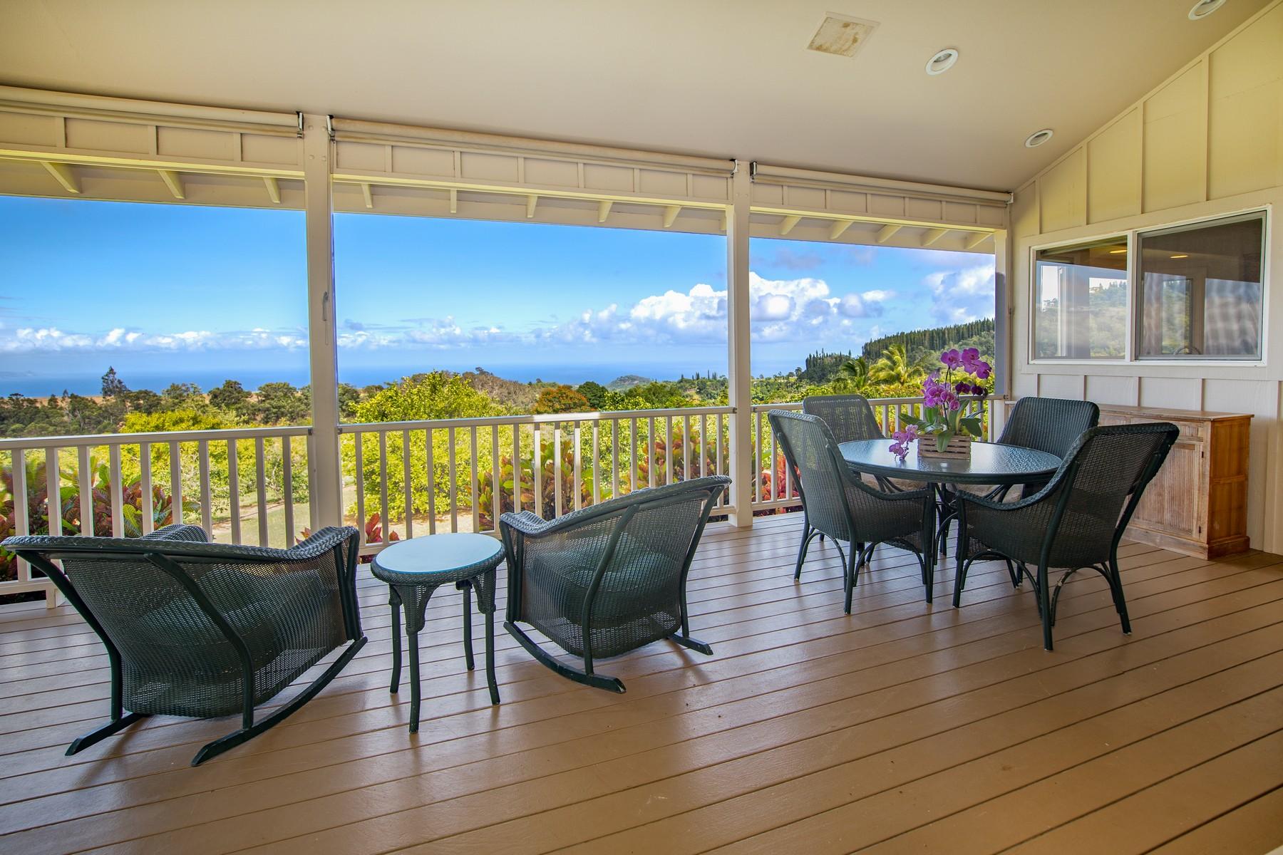 Single Family Homes 용 매매 에 Magnificent View From This Haiku Estate 182 Uakoko Pl, Haiku, 하와이 96708 미국