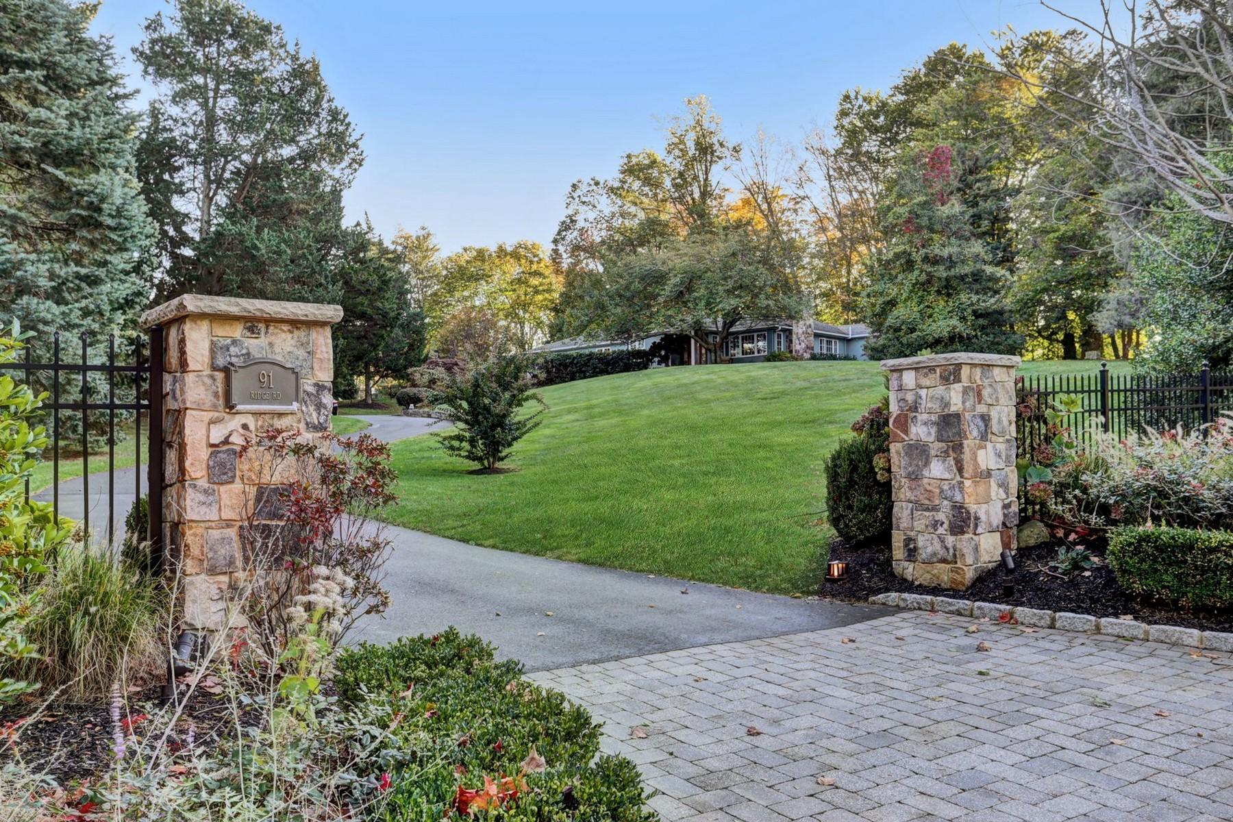Maison unifamiliale pour l Vente à California Dreaming 91 Ridge Rd, Rumson, New Jersey 07760 États-Unis