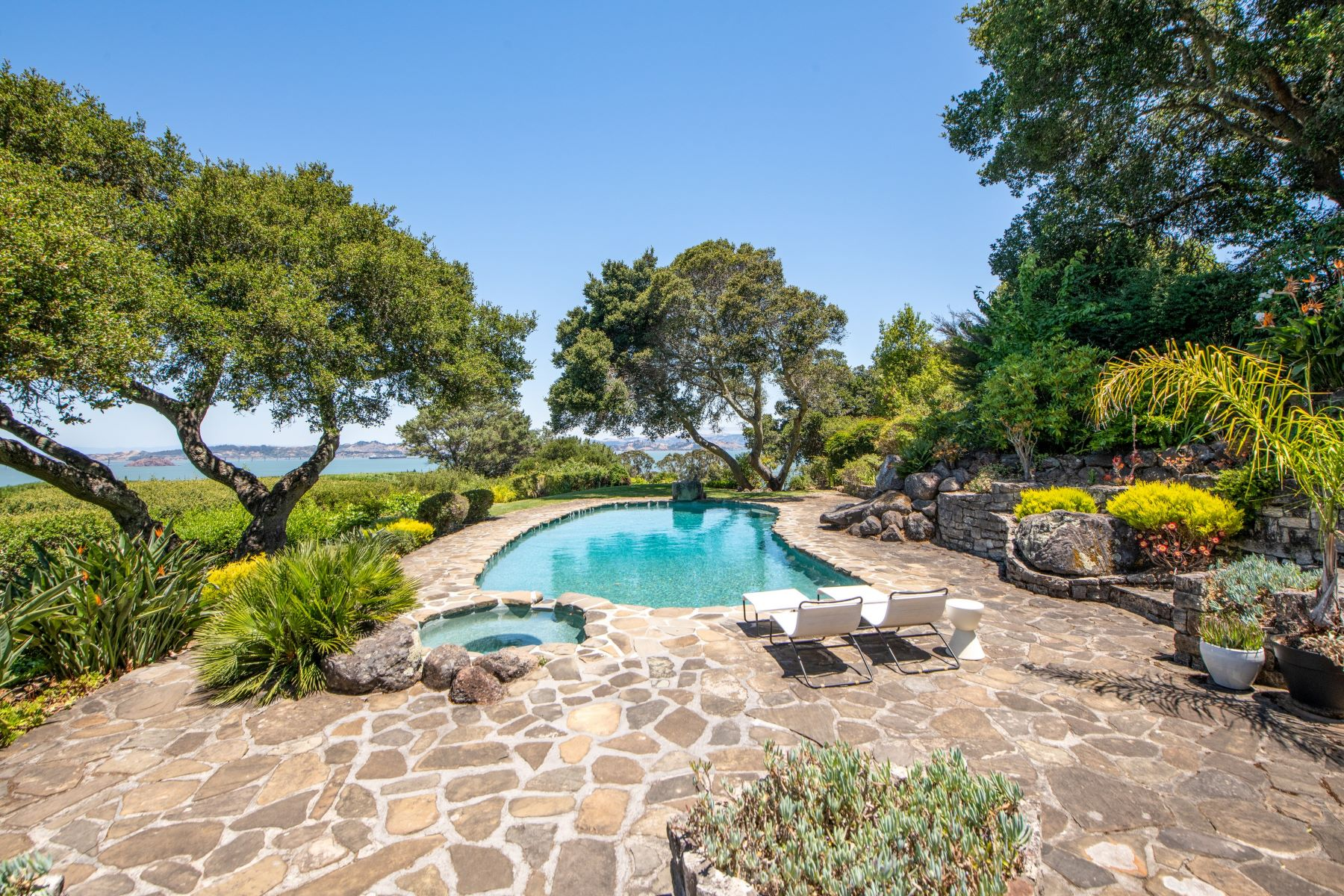 Single Family Homes for Sale at Zen like Mid Century Modern with Captivating Views 21 Teaberry Lane, Tiburon, California 94920 United States