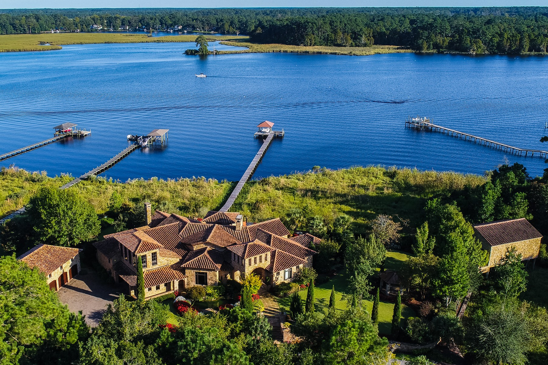 Single Family Home for Sale at A Custom Designed Tuscan Estate Awaits You 106 Allen Drive, New Bern, North Carolina, 28562 United States