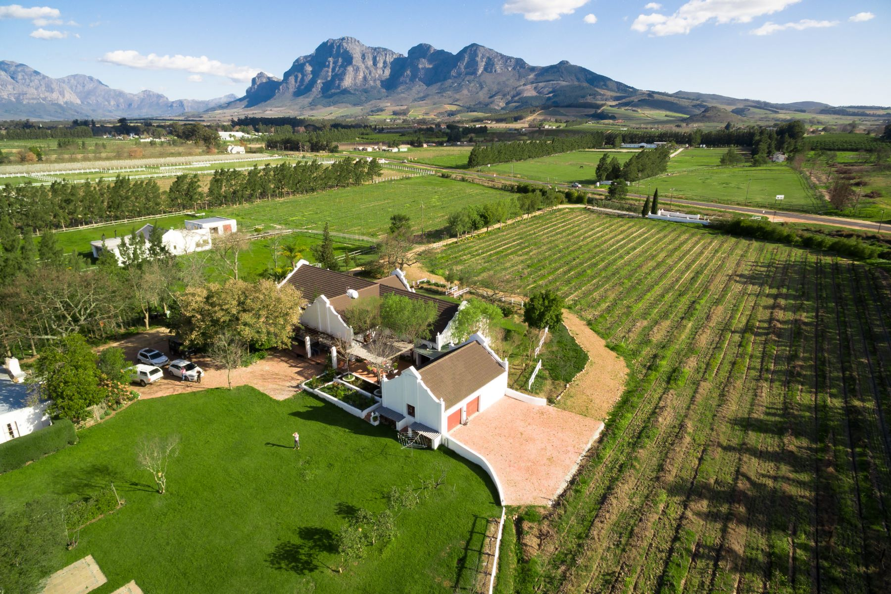 Farm / Ranch / Plantation for Sale at Historic Wine Farm in the Cape Winelands Stellenbosch, Western Cape, 7600 South Africa