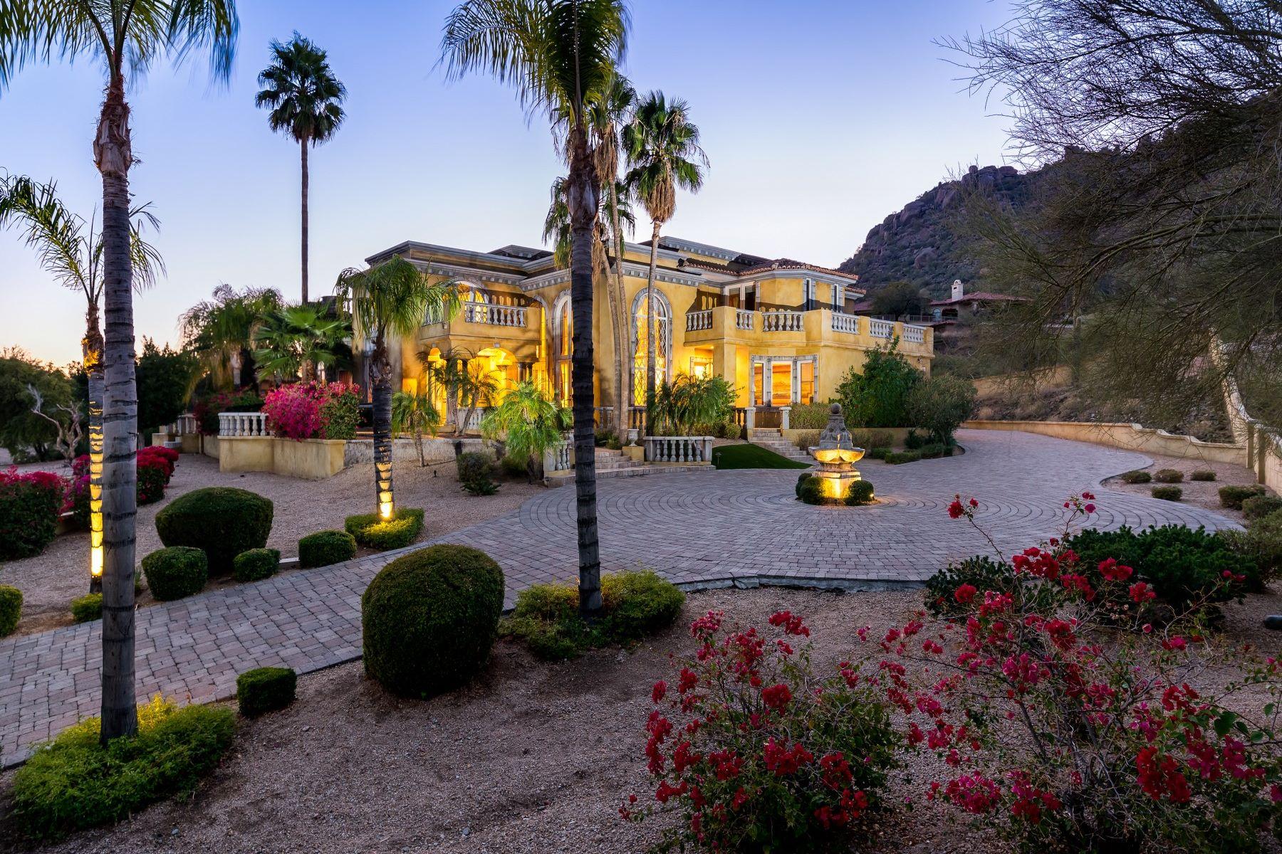Moradia para Venda às Handcrafted Mediterranean Estate 35802 N MEANDER WAY, Carefree, Arizona, 85377 Estados Unidos