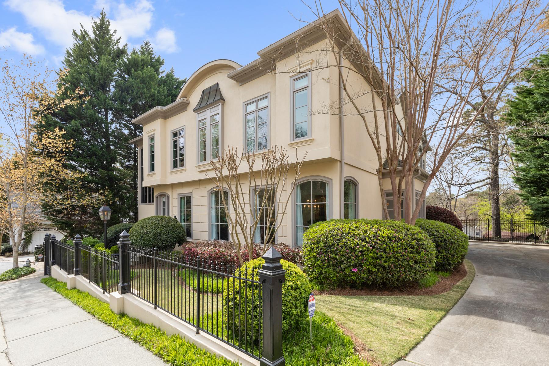 Single Family Homes для того Продажа на Remarkably Elegant European Home in North Buckhead 4261 Olde Mill Lane NE, Atlanta, Джорджия 30342 Соединенные Штаты