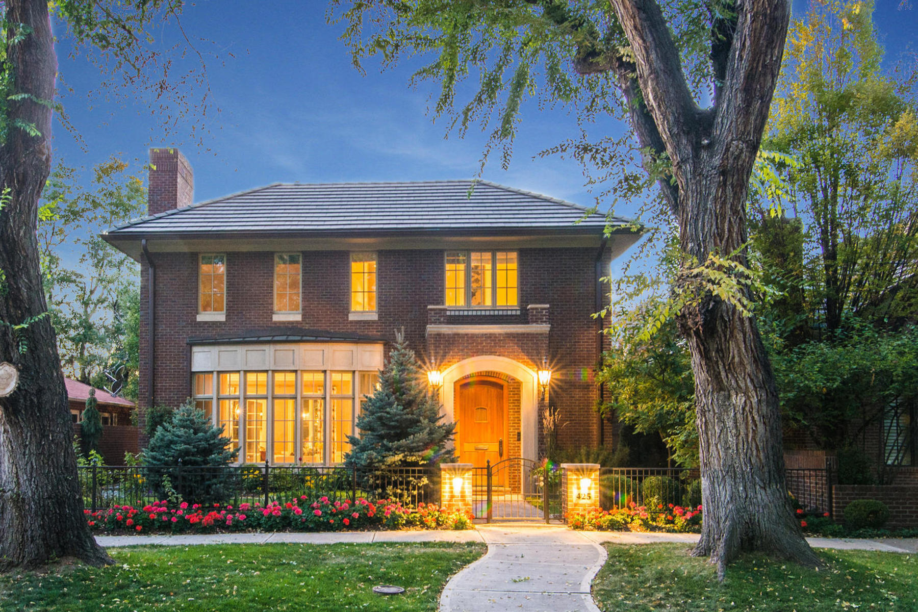 Single Family Homes for Sale at Beautiful Brick Home on One of Cherry Creek North's Best Clocks 425 Monroe Street Denver, Colorado 80206 United States