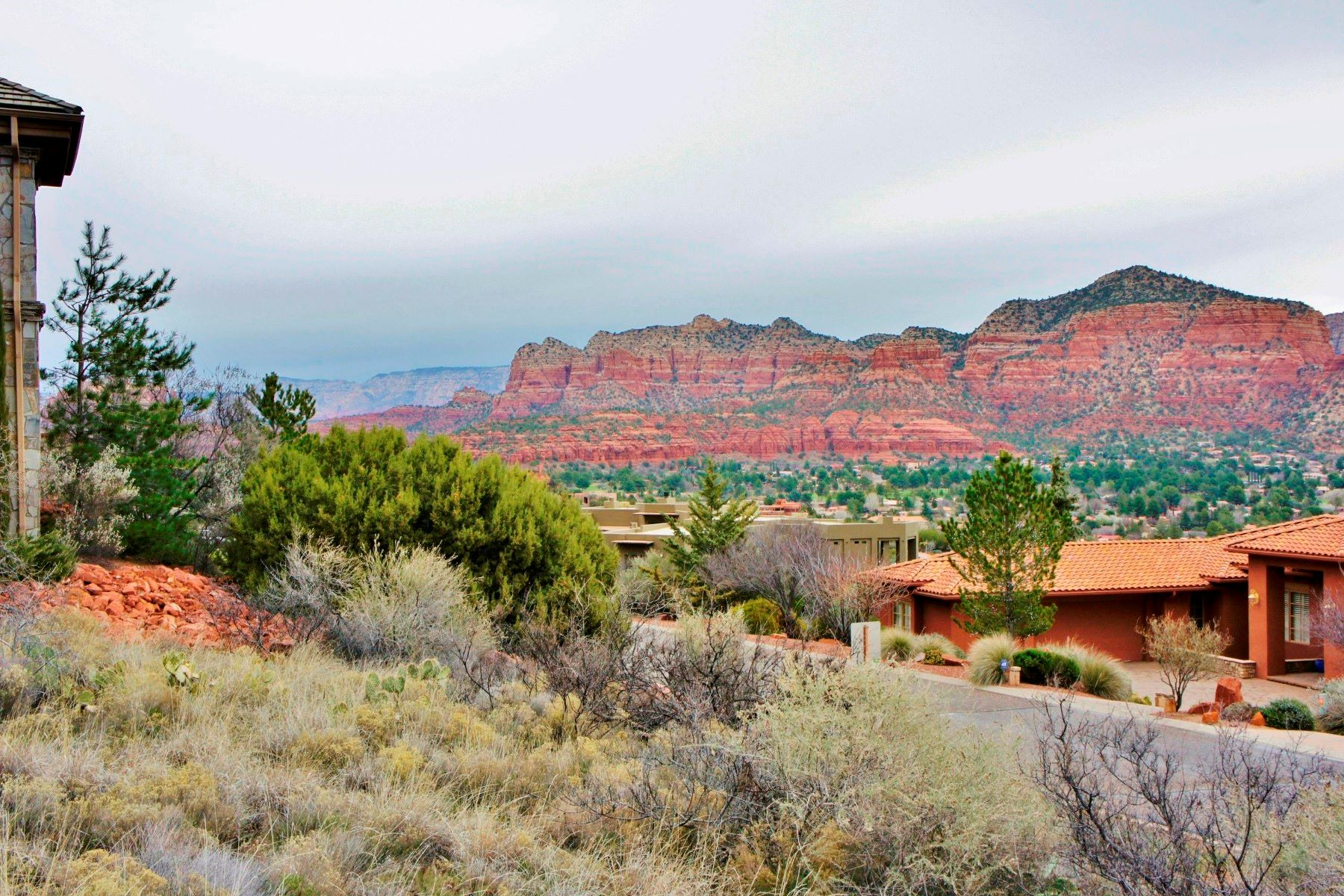 土地 為 出售 在 Beautiful custom home site with panoramic 210 Crystal Sky Dr. Sedona, 亞利桑那州, 86351 美國