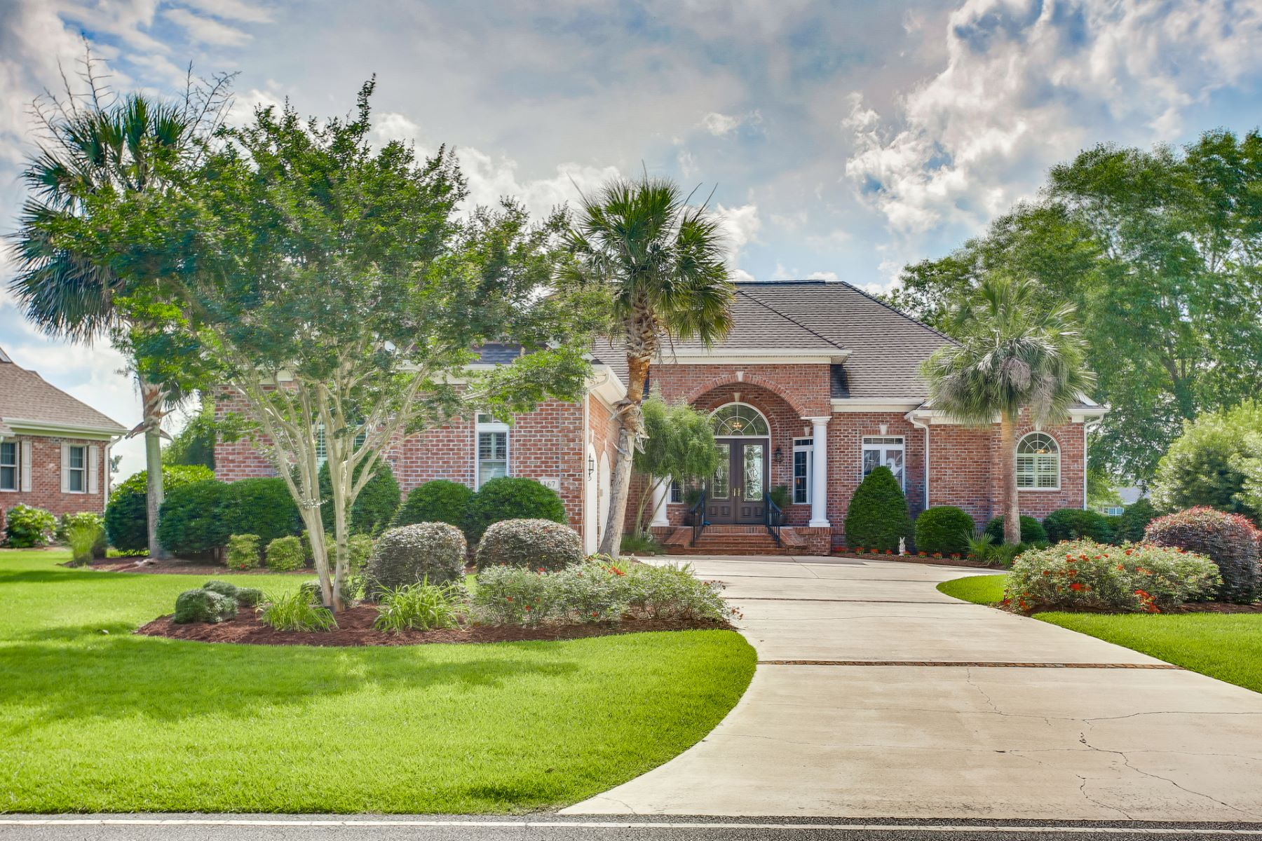 Single Family Homes for Active at Elegant Custom Home with Panoramic Views 167 Windsor Circle SW Ocean Isle Beach, North Carolina 28469 United States