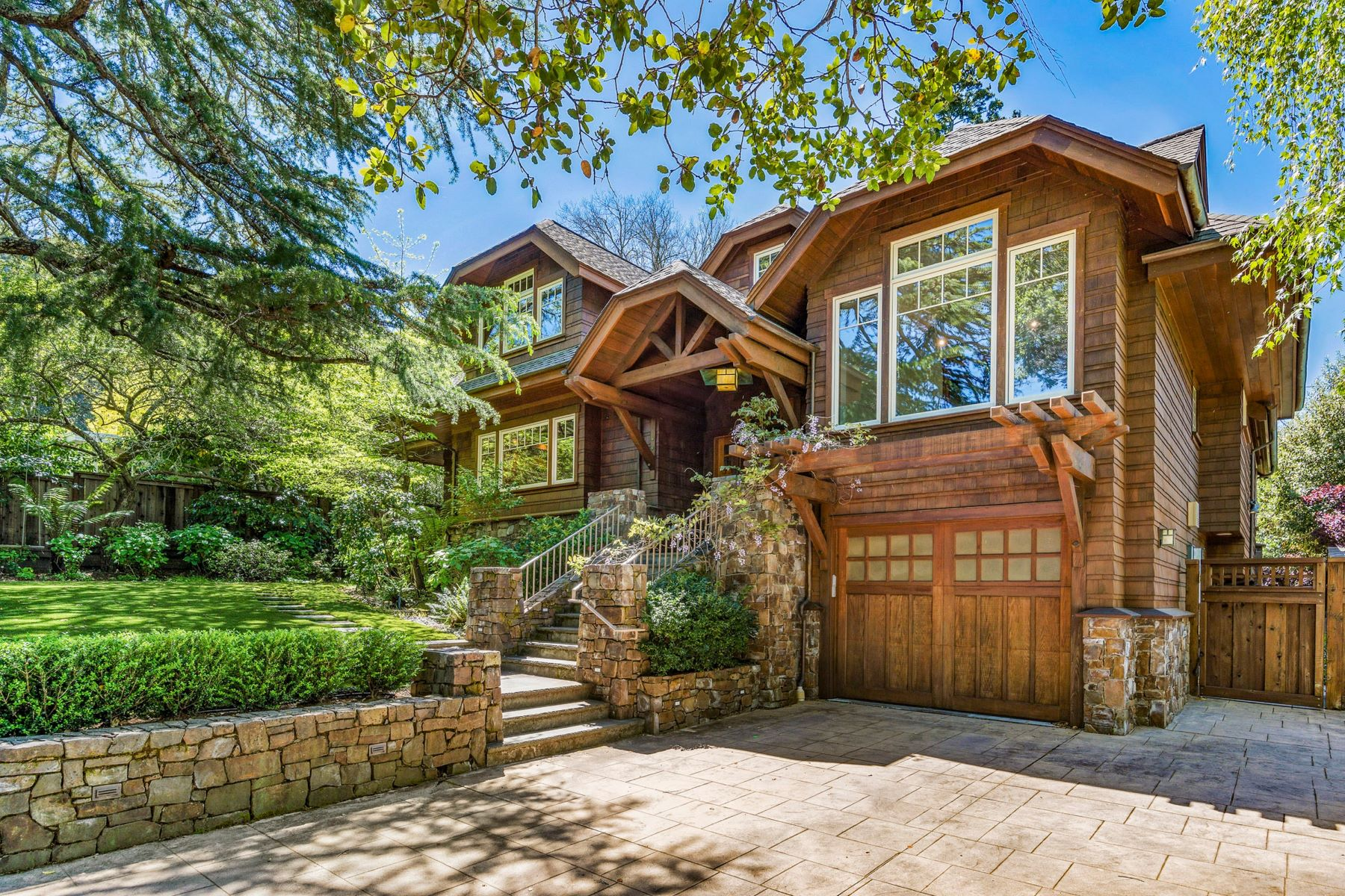 Single Family Homes for Sale at Beautiful Craftsman Style 4 BR / 3 BA on Gated Level Lot in Prime Ross Location 2 Thomas Court Ross, California 94957 United States