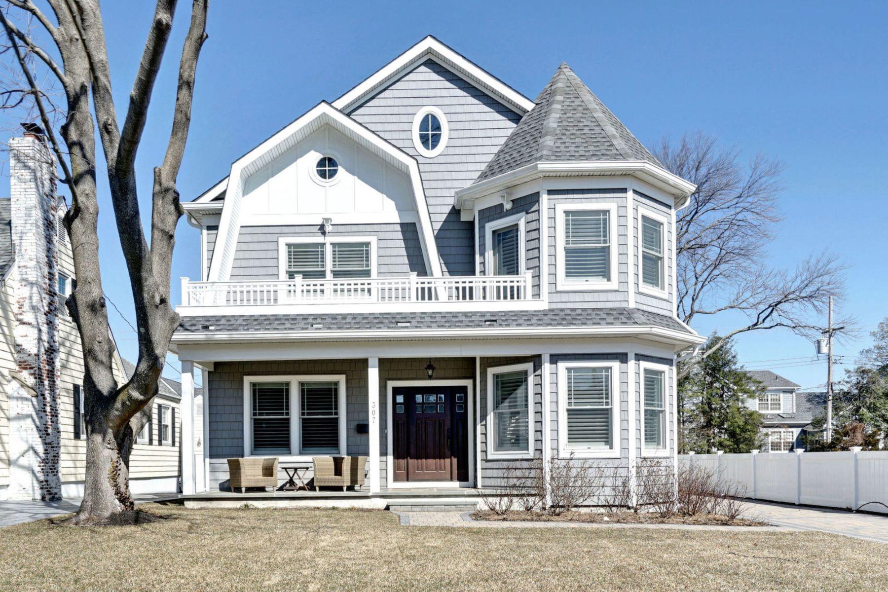 Single Family Homes for Sale at Elegant Coastal Living 307 Stockton Boulevard Sea Girt, New Jersey 08750 United States