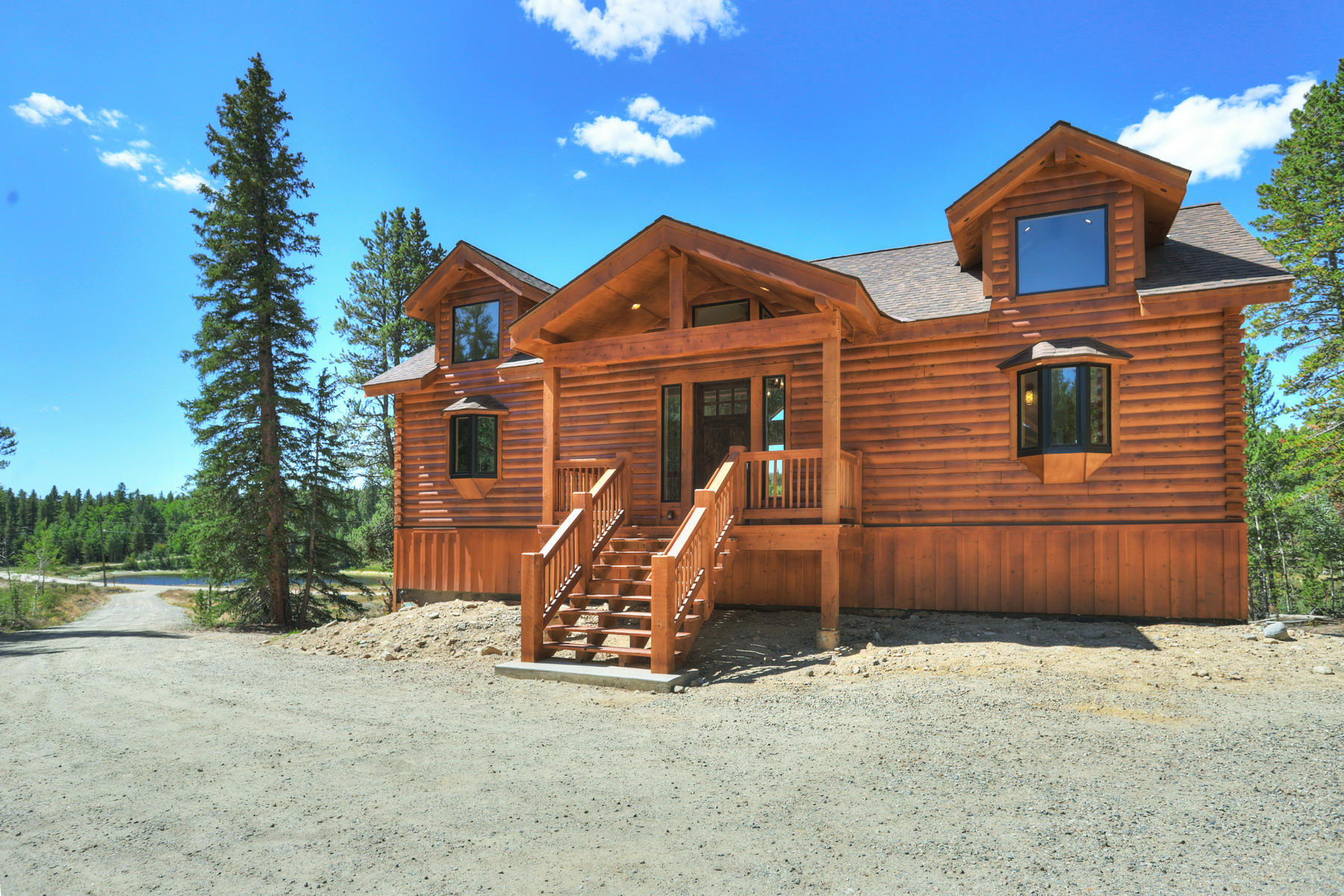 Single Family Homes for Sale at Big Sky Builders Log Home 1477 Lakeside Drive Alma, Colorado 80420 United States