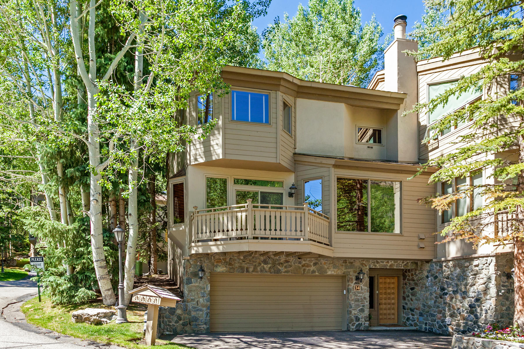 Townhouse for Sale at Timeless Appeal In This Vail Golf Course Townhome 1645 Golf Lane J34 Vail Golf Course, Vail, Colorado, 81657 United States