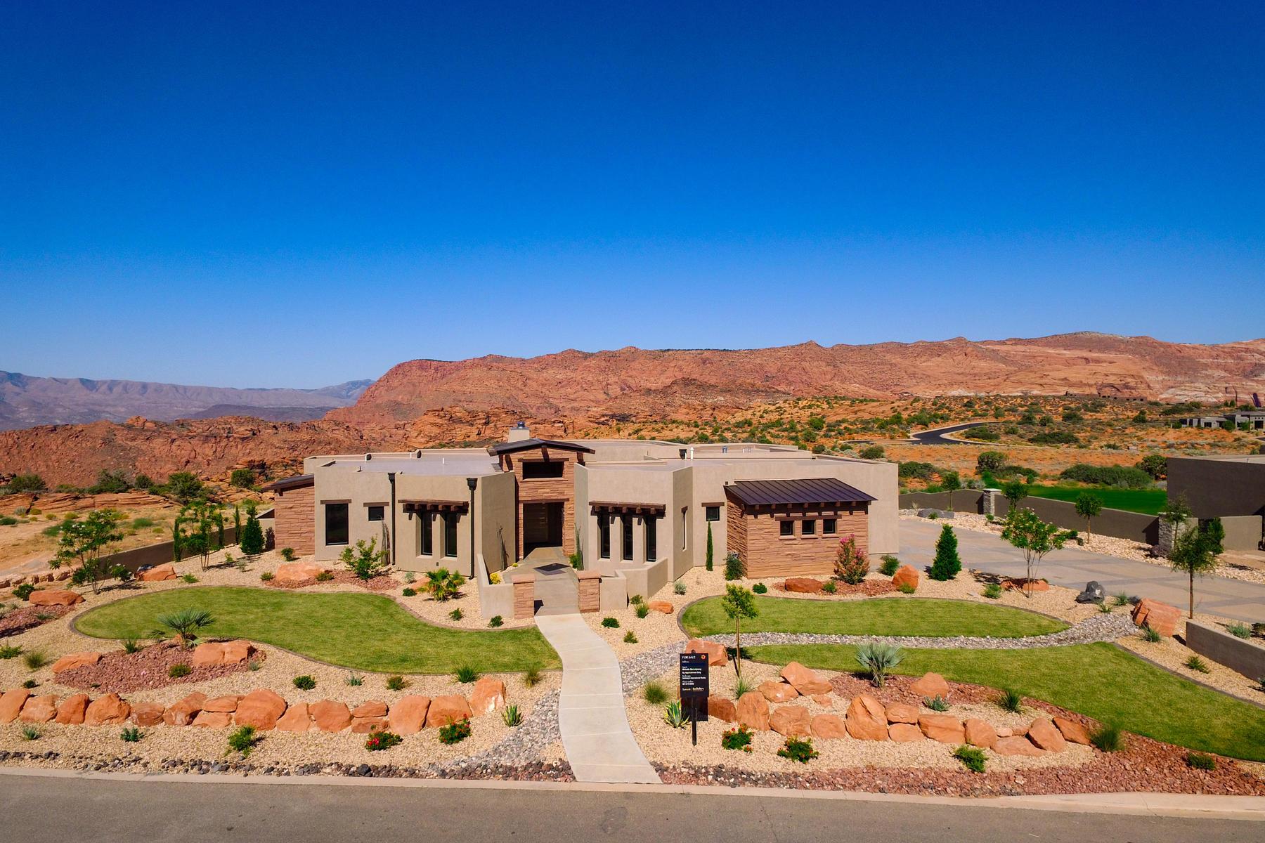 Частный односемейный дом для того Продажа на One of a Kind Home 4807 N Petroglyph Dr St. George, Юта, 84770 Соединенные Штаты